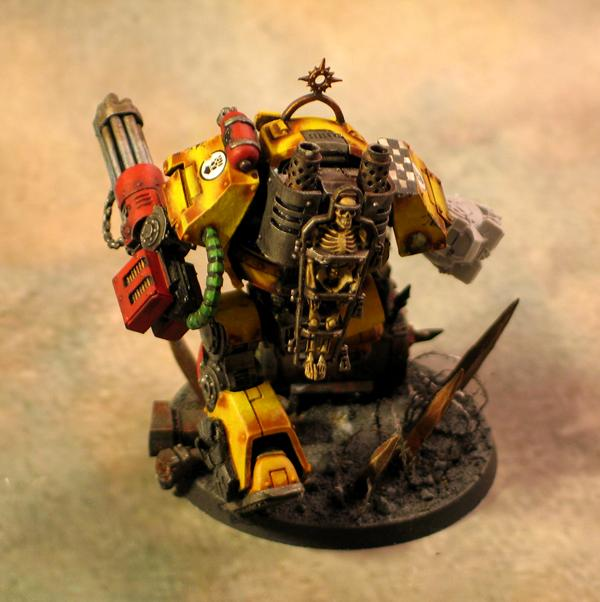 Contemptor Dreadnought, Imperial Fists, Kheres Pattern Assault Cannon