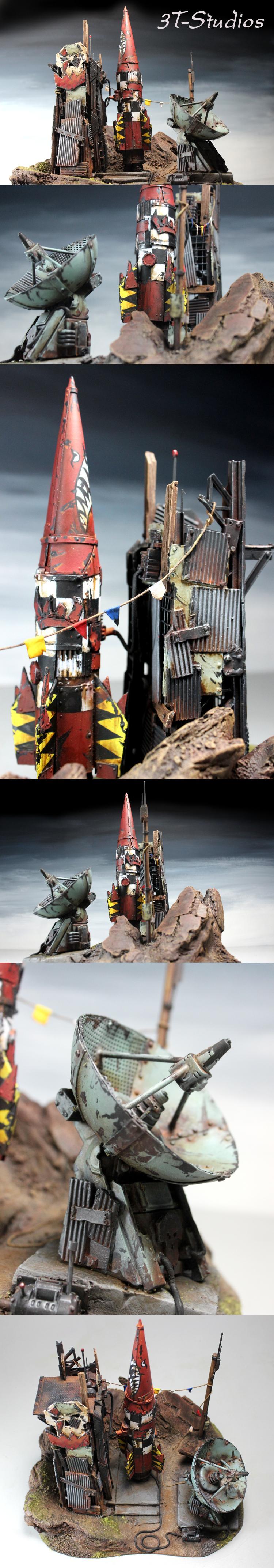 Communication, Missile, Orks, Radar, Rocket, Terrain