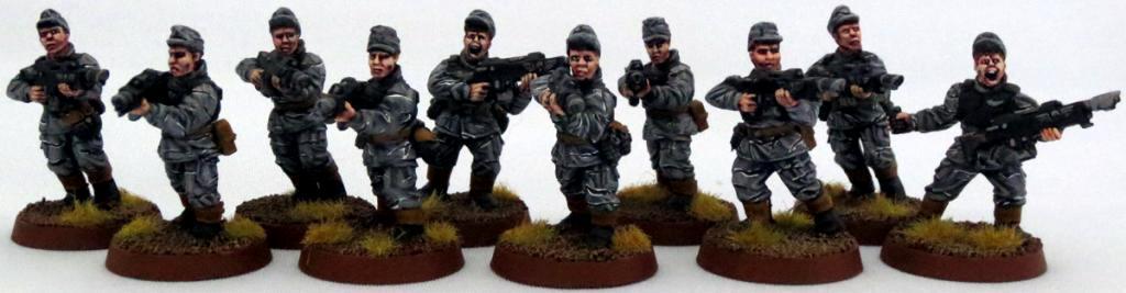 8th Regiment, Astra Militarum, Captain Brown, Imperial Guard, Necromunda, Necromundan, Necromundian Conscripts, Spiders