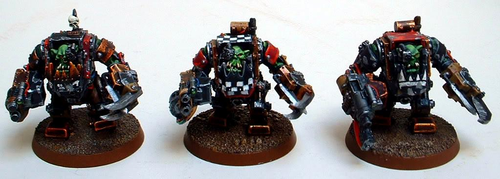 Captain Brown, Gretchin, Mega Nobz, Orks, Waaagh