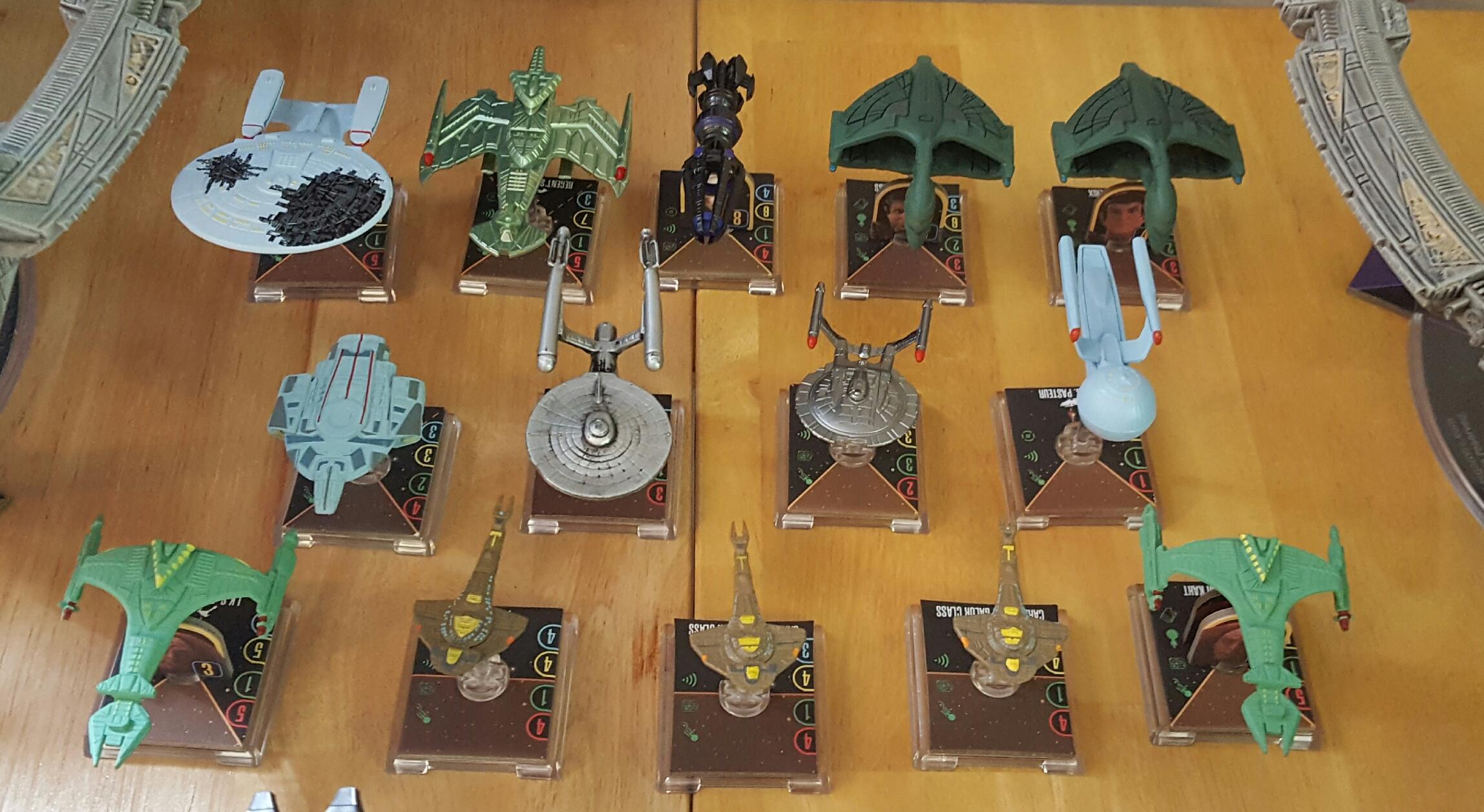 Attack Wing, Federation, Klingon, Romulan, Space Ships, Star Trek, Star Trek Attack Wing