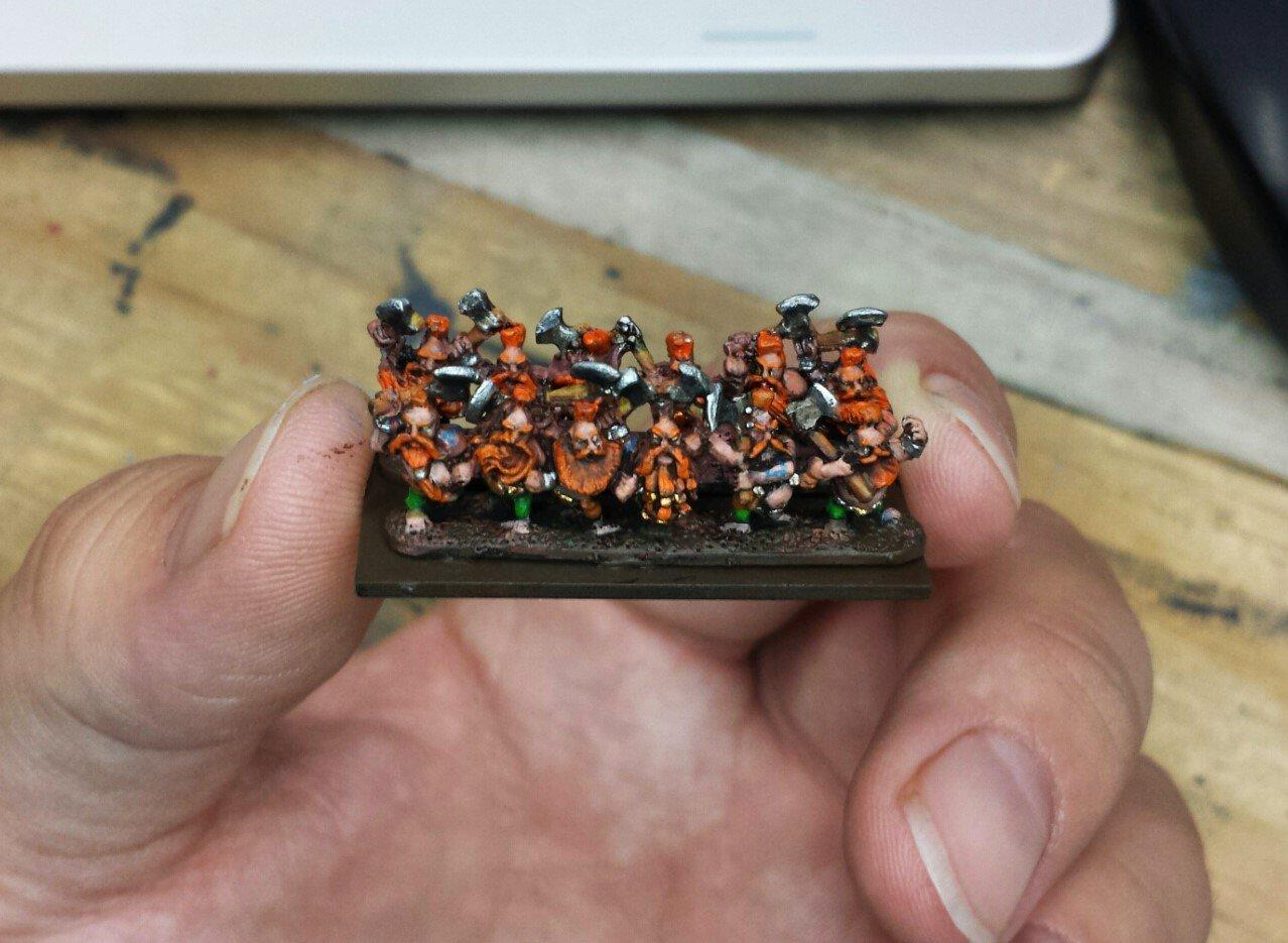 Dwarves, Games-workshop, Slayers, Specialist Games, Warmaster, Work In Progress