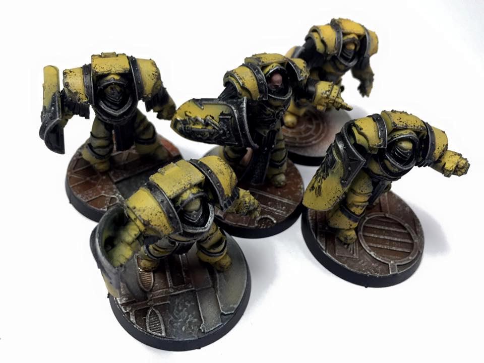 30k, Horus Heresy, Imperial Fists, Loyalist, Space Marines, Warhammer 40,000, Yellow