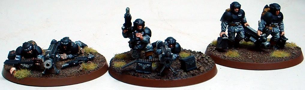 8th Regiment, Astra Militarum, Captain Brown, Heavy Bolter Heavy Weapons Squad, Imperial Guard, Necromunda, Necromundan, Spiders