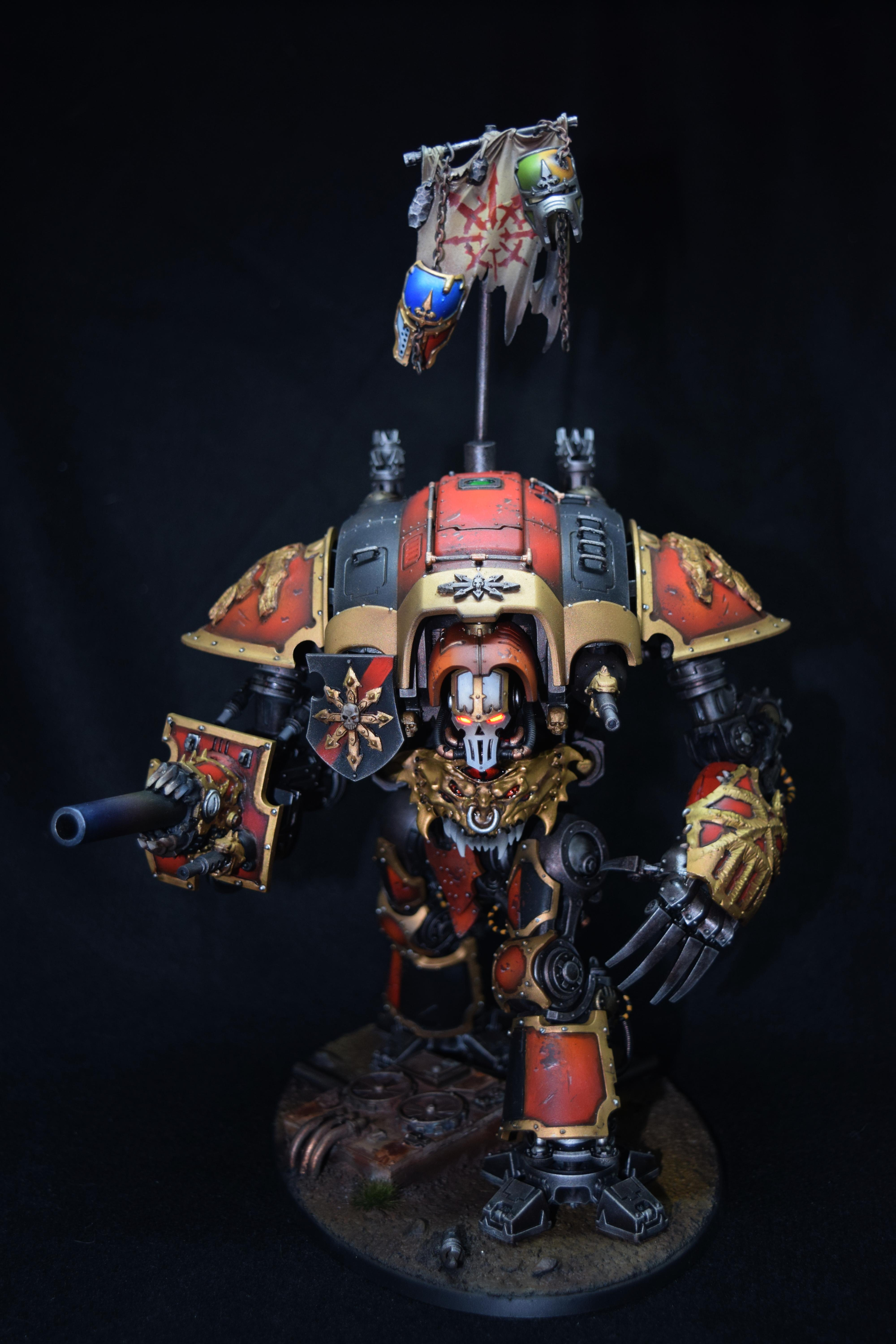 Chaos, Conversion, Imperial Knight, Khorne, Led Lights