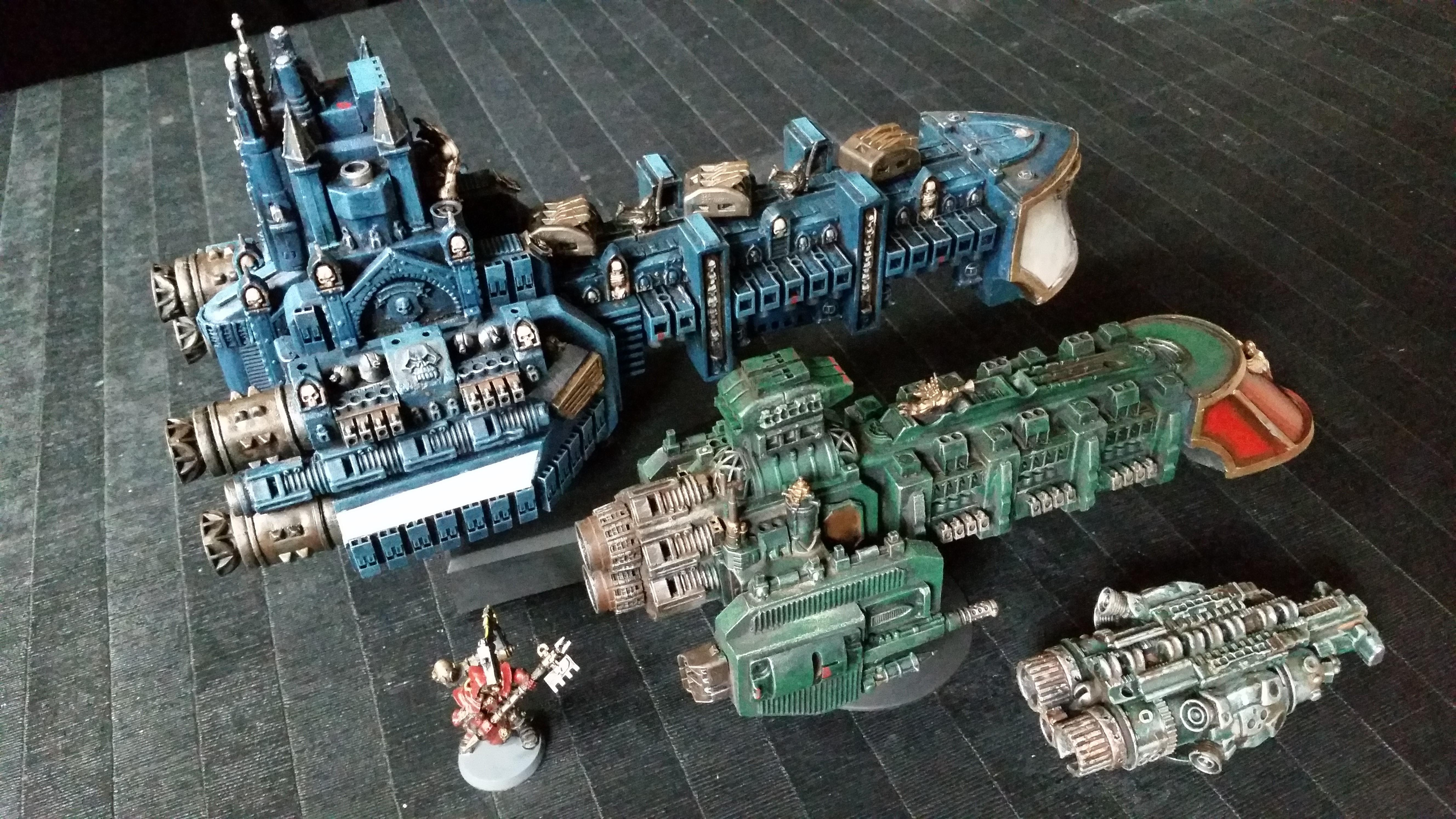 Battlefleet Gothic, Rogue Trader, Scratch Build. Frigate, Ship