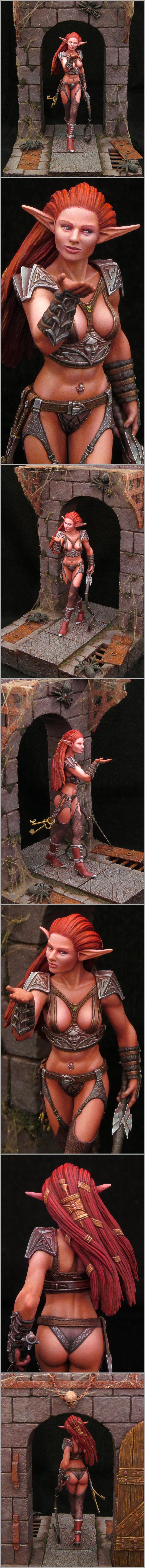 Chain, Dark Elves, Dungeon, Elves, Nsfw, Spider, Web, Whip