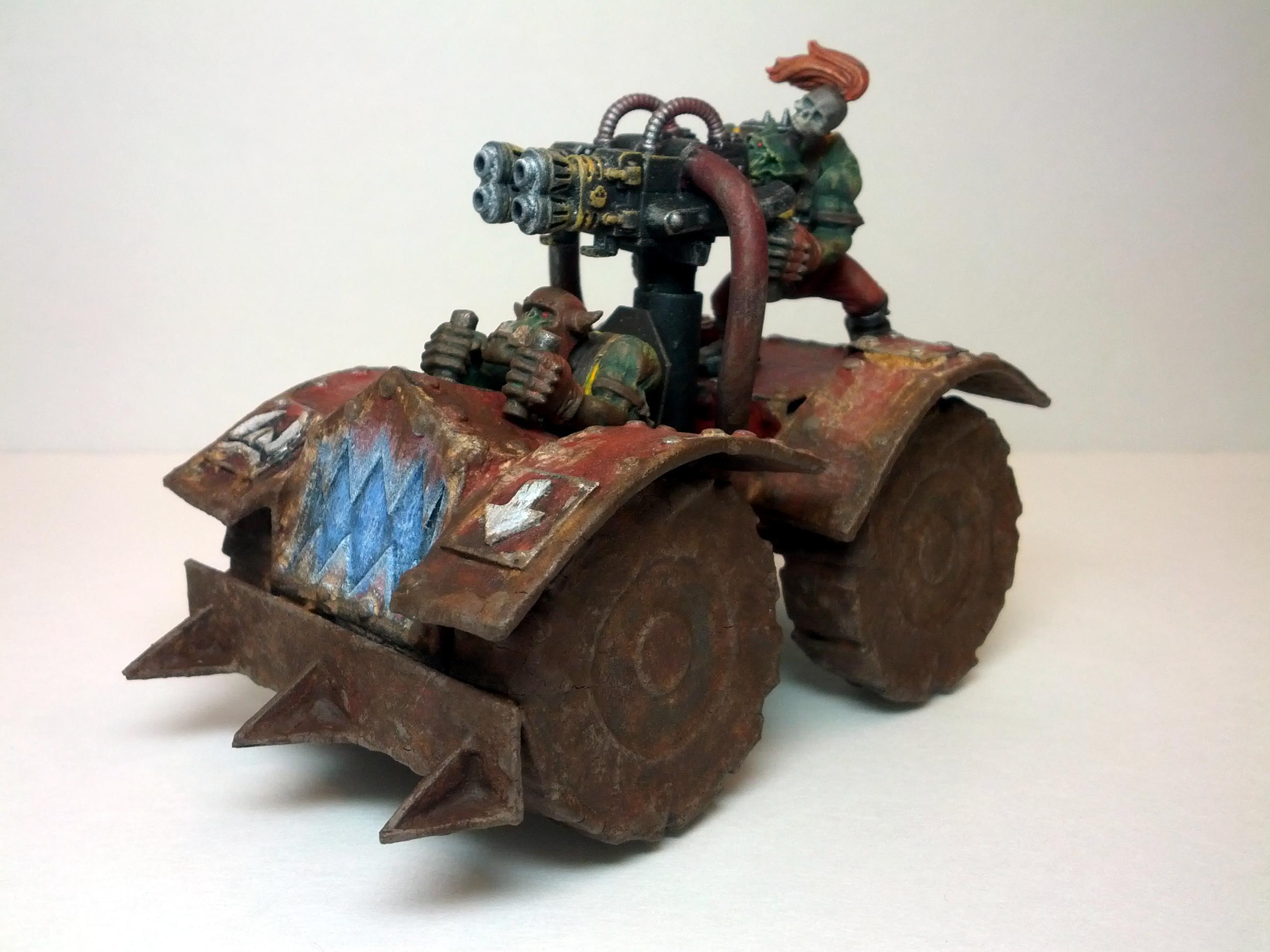 Mud, Orks, Plasma Effect, Scratch Build, Skorcha, Skorcha Buggy, Warbuggy, Warhammer 40,000, Weathered