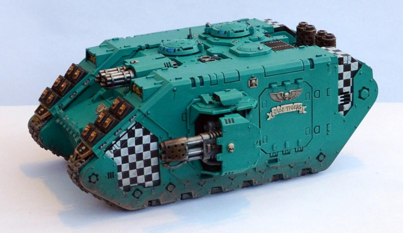 Jade Tigers, Land Raider, Space Marines, Warhammer 40,000
