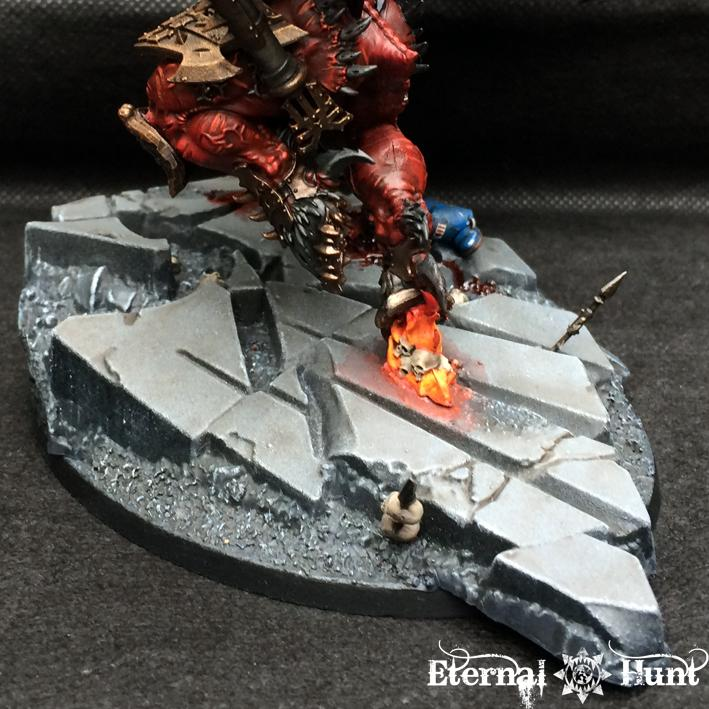 30k, Angron, Chaos, Chaos Daemons, Chaos Space Marines, Conversion, Daemon Prince, Daemon-primarch, Daemons, Horus Heresy, Khorne, Kitbash, Primarch, Warhammer 40,000, World Eaters