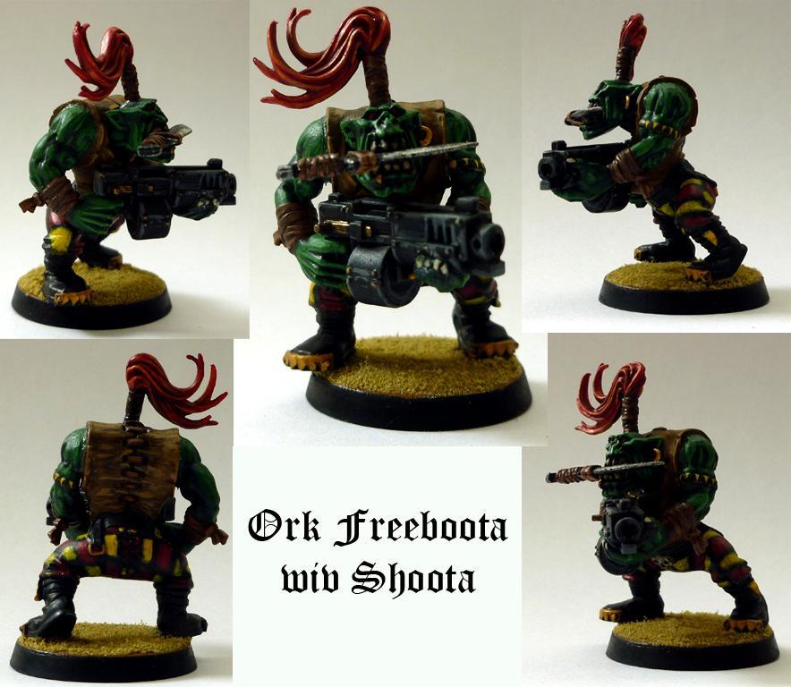 Boy, Flash Git, Knife In Teeth, Orks, Pirate, Shoota, Warhammer 40,000