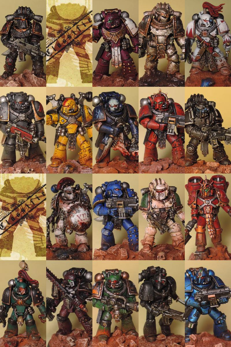 30k, Alpha Legion, Blood Angels, Dark Angels, Death Guard, Emperor's Children, Forge World, Freehand, Heresy, Imperial Fists, Iron Hands, Iron Warriors, Night Lords, Raven Guard, Salamanders, Sons Of Horus, Space Marines, Space Wolves, Thousand Sons, Ultramarines, Weathered, White Scars, Word Bearers, World Eaters