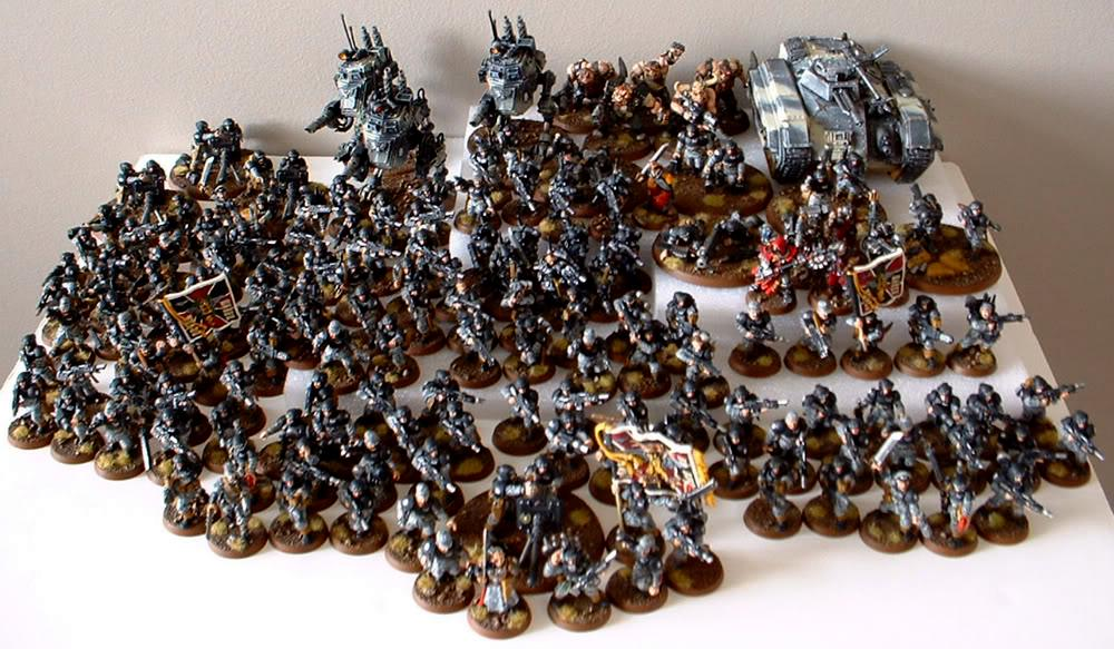 8th Regiment, Astra Militarum, Captain Brown, Imperial Guard, Necromunda, Necromundan, Necromundian Guard Army So Far, Spiders