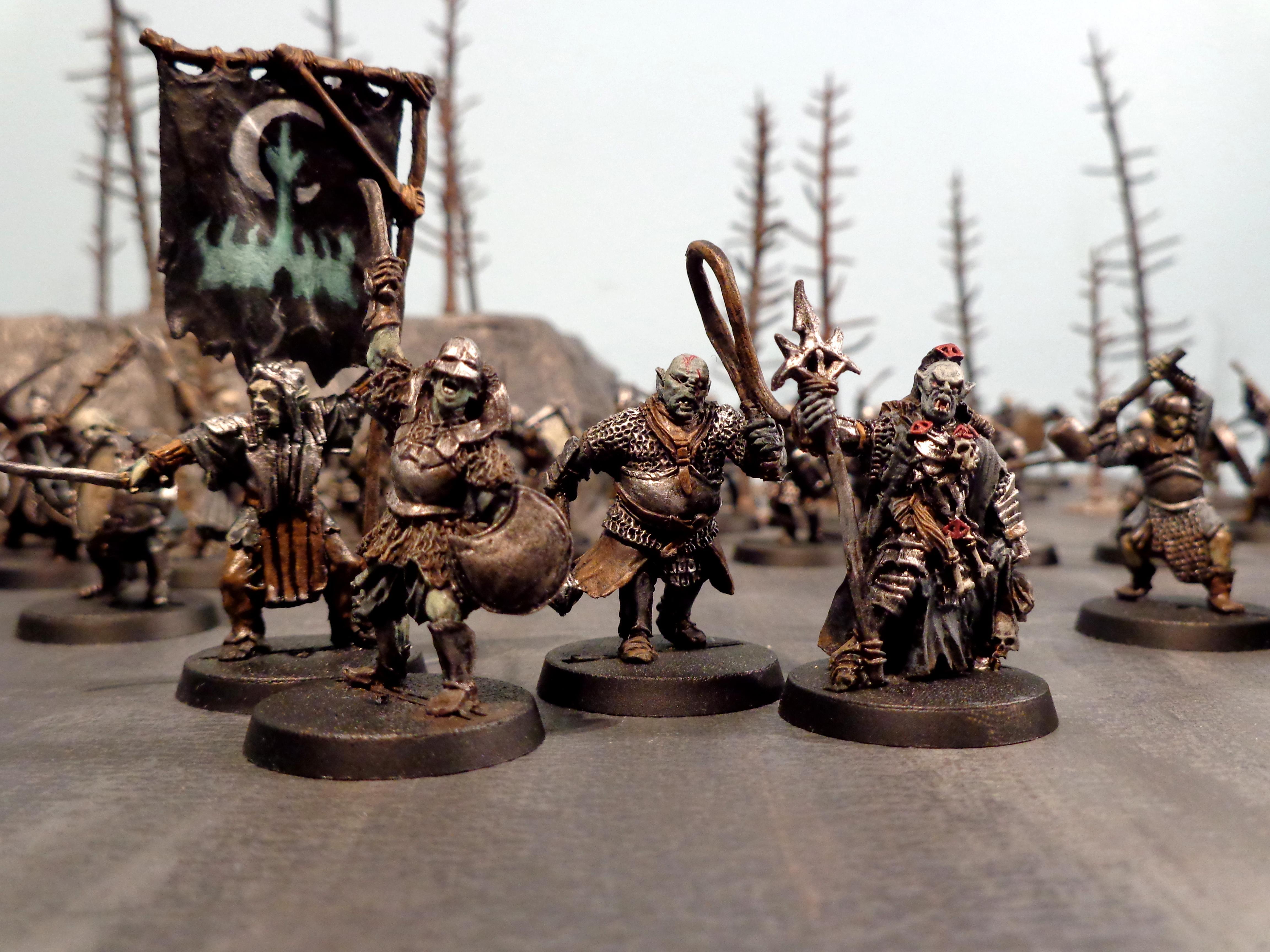 Army, Banner, Minas Morgul, Mordor, Morgul, Orc Commanders, Orcs, Shaman, Taskmaster