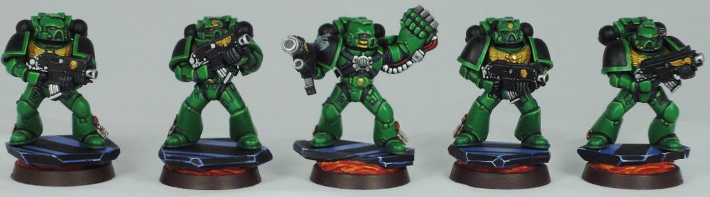 Combat Squad, Lava, Salamanders, Space Marines