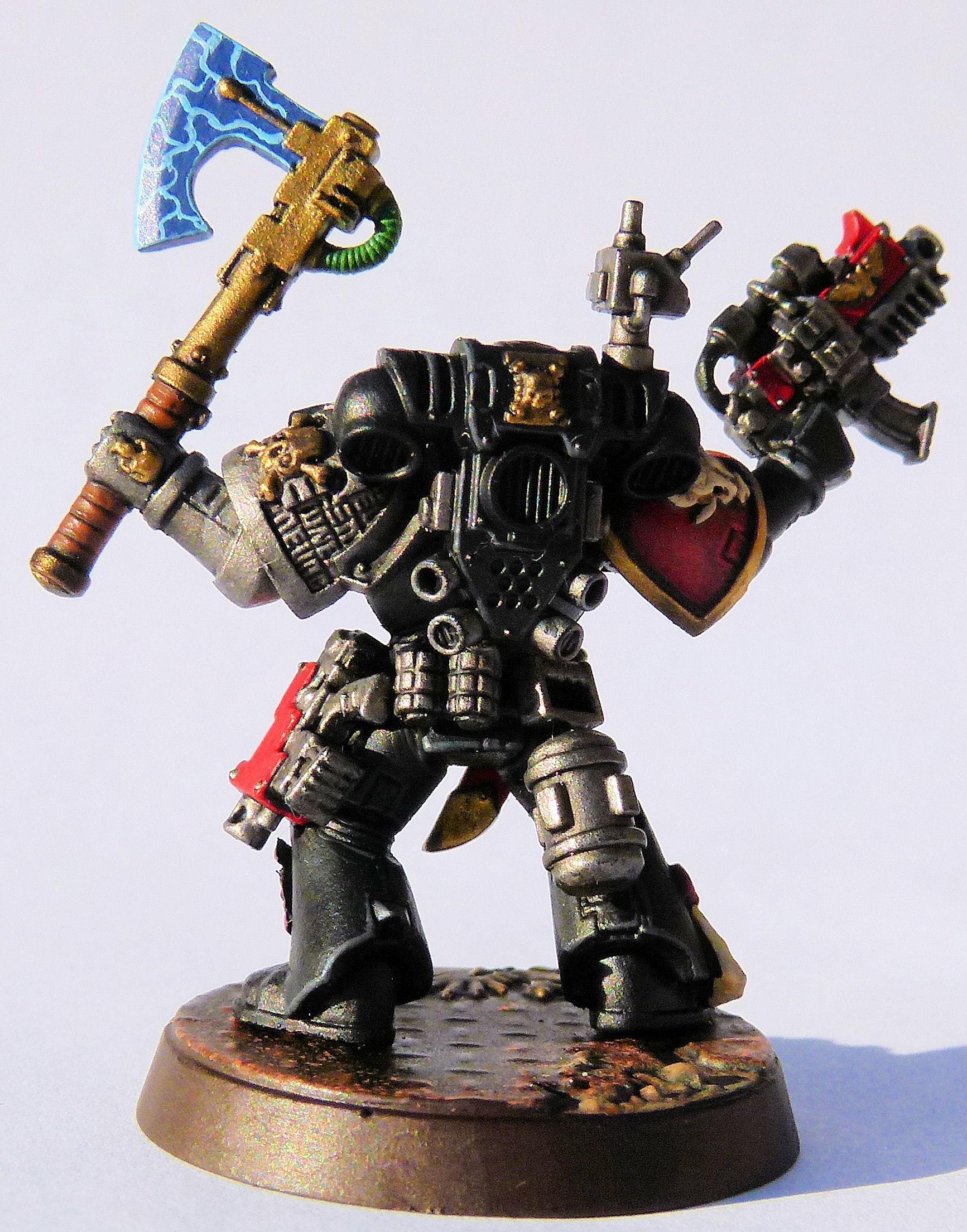 White Minotaur Deathwatch Veteran Rear