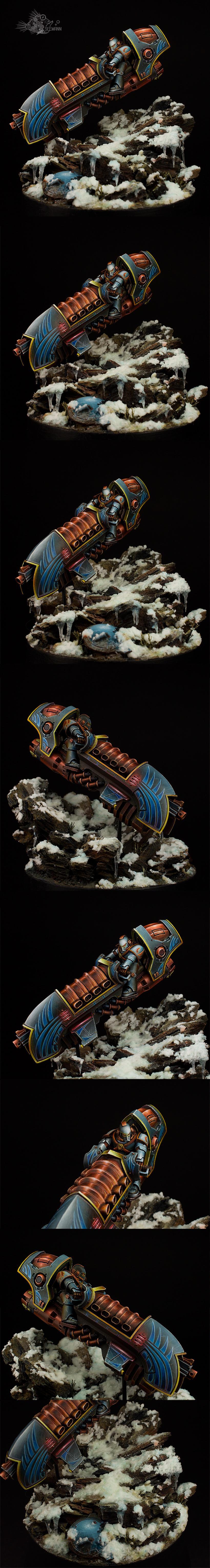 Horus Heresy, Jetbike, Pro-painted, Space Marines