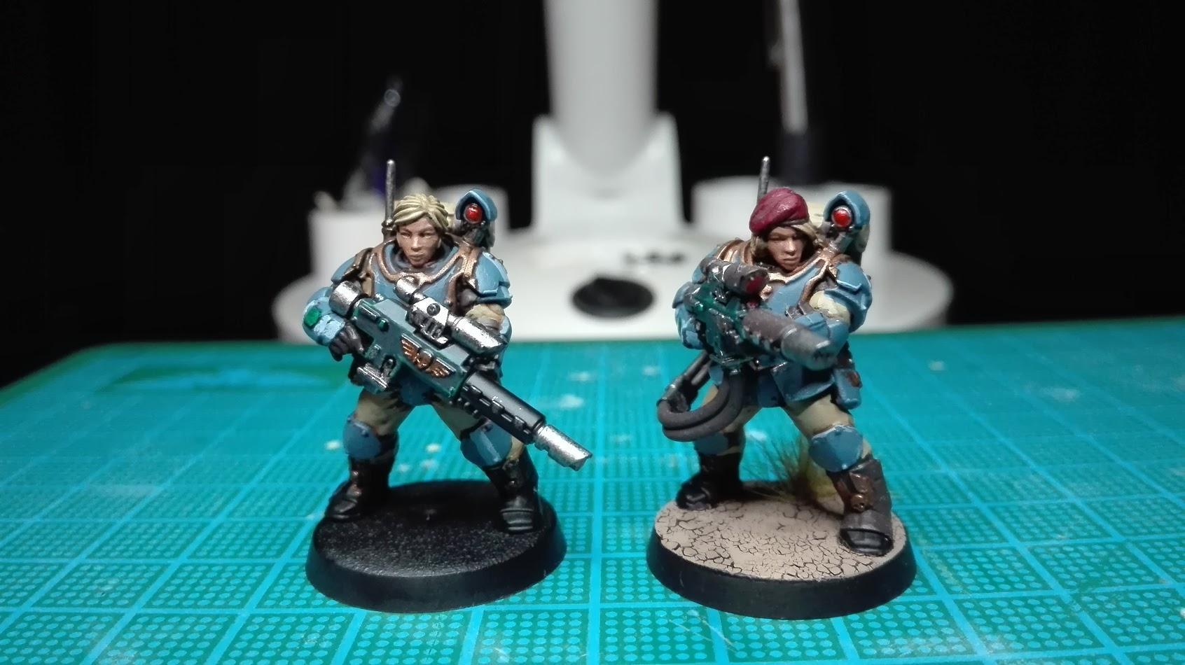 Female, Girl, Grrrl, Militarum Tempestus, Scion, Statuesque Miniatures, Storm Troopers