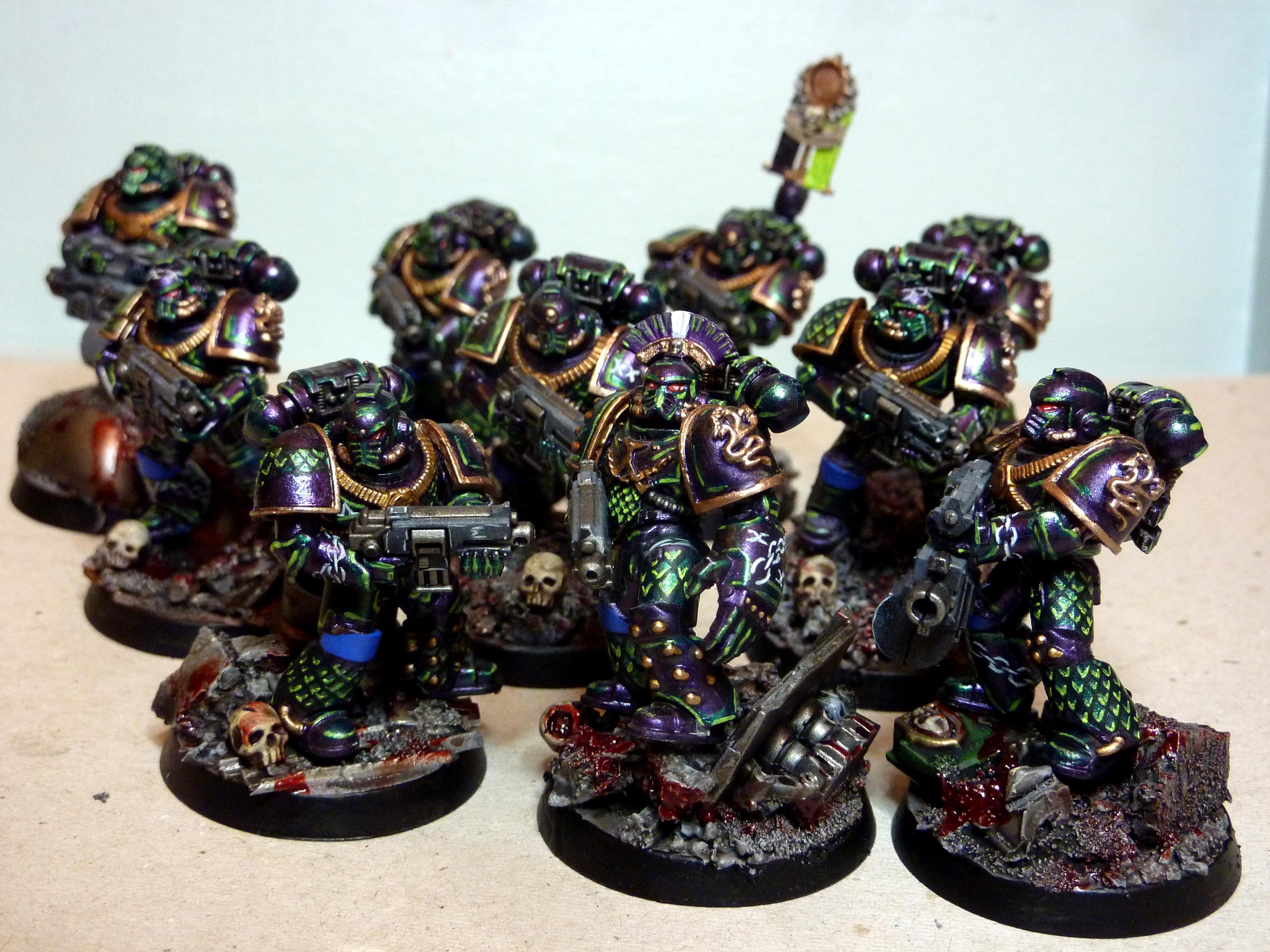 30k, Alpha Legion, Alpha Legion Veteran Tactical Squad, Alpha Legion Vets, Veteran, Veteran Tactical Squad