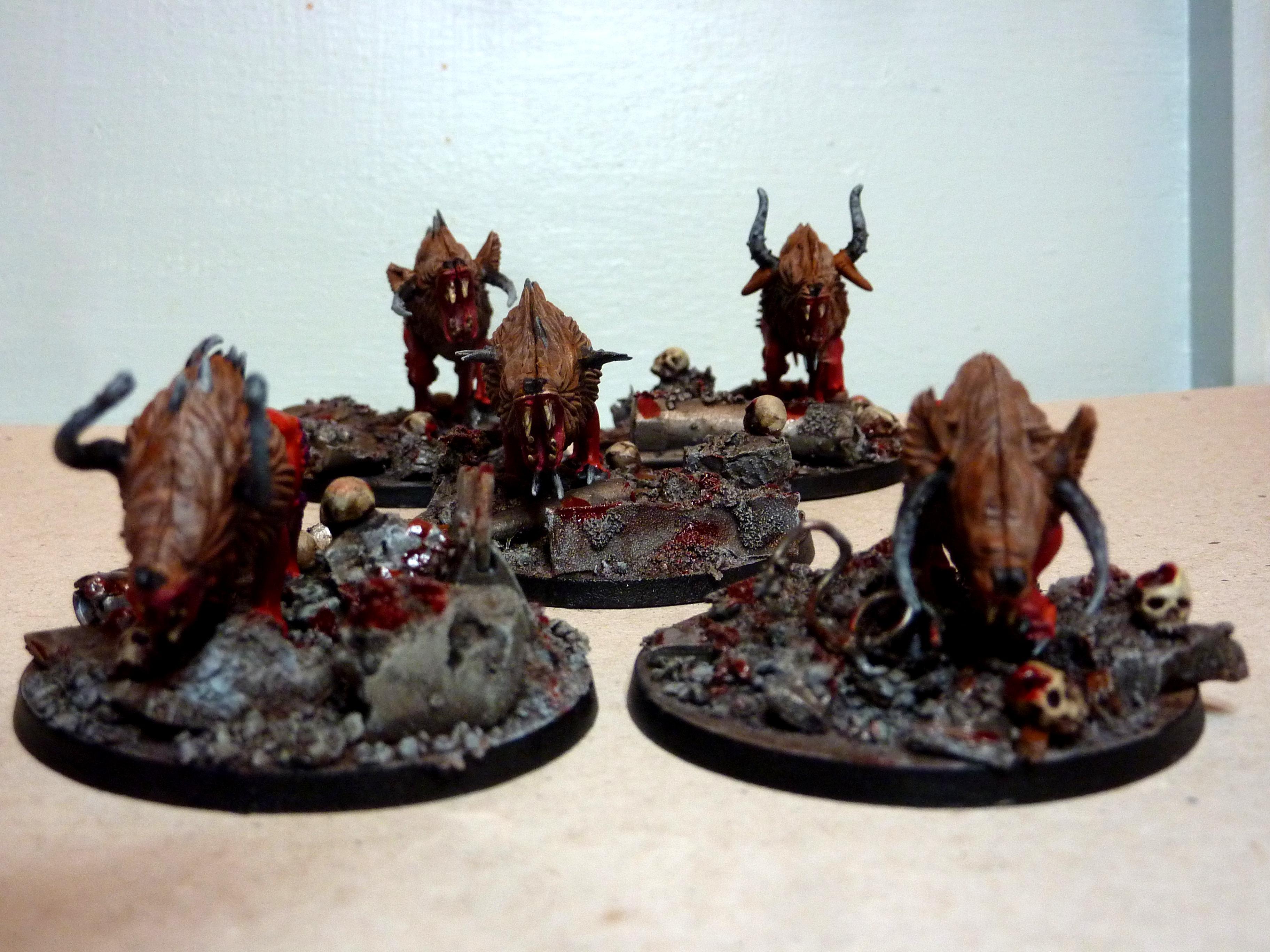 Chaos Warhounds, Flesh Hounds Of Khorne, Kdk