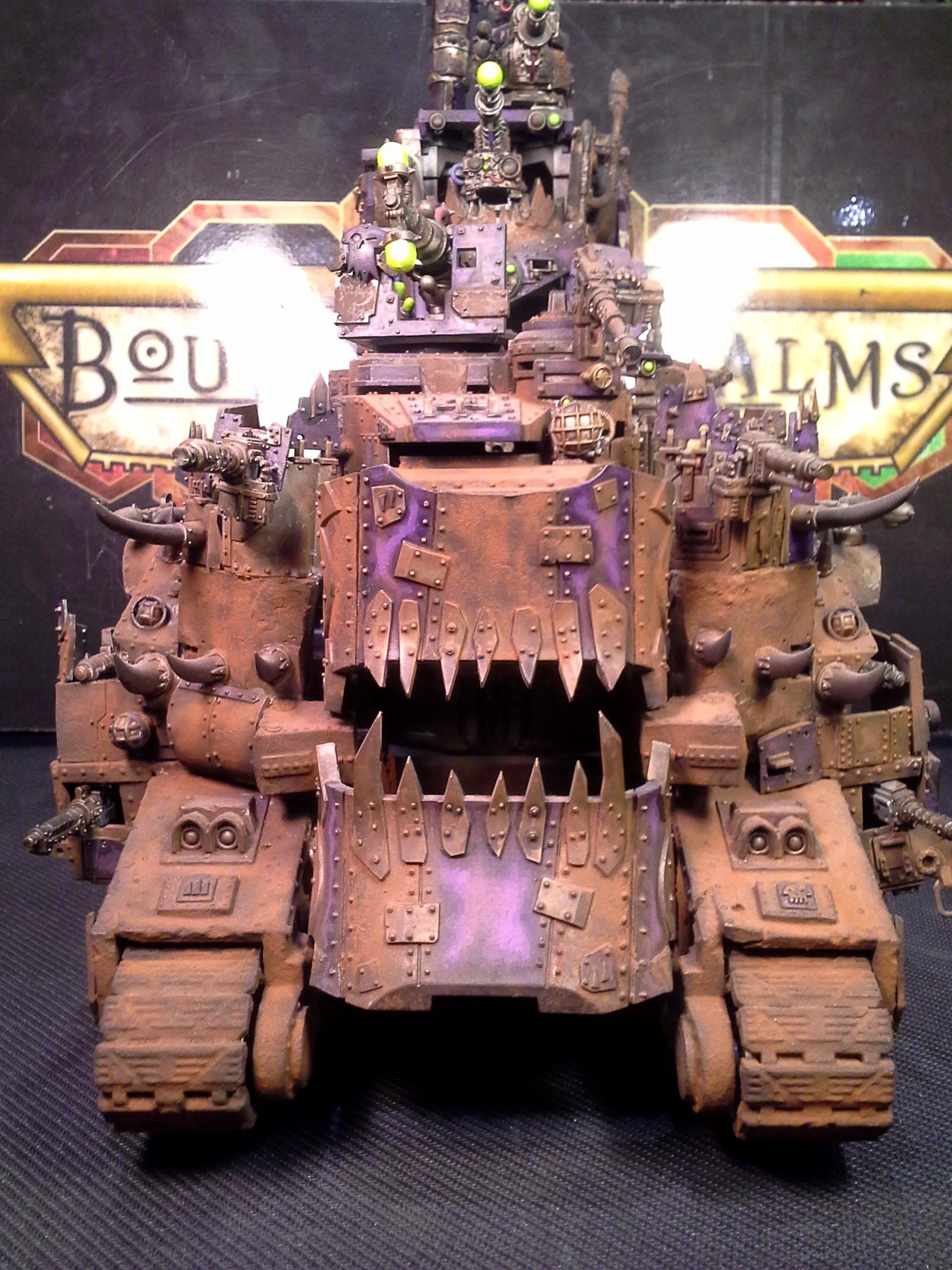 Baneblade, Battle Fortress, Battlewagon, Conversion, Custom, Draw Bridge, Lord Of War, Mad Max, Mekboy, Object Source Lighting, Orks, Rust, Super-heavy, Turret