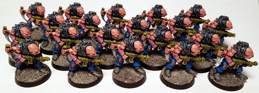 Genestealer Cult, Gsc, Hybrid, Hybrids, Lead, Oldhammer, Out Of Production, Painted, Rogue Trader, Warhammer 40,000