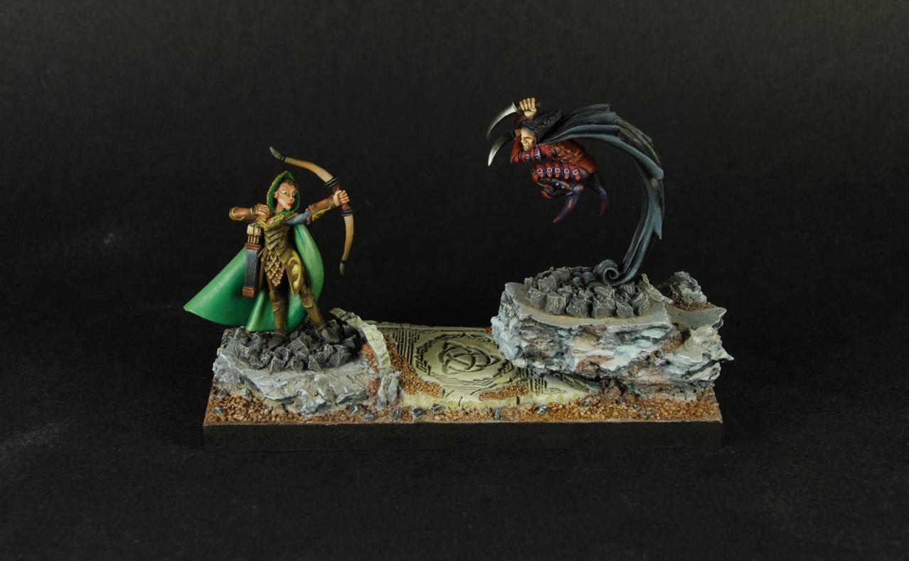 Alistrilee, Assassin, Diorama, Hellbore, Rangers, Warl