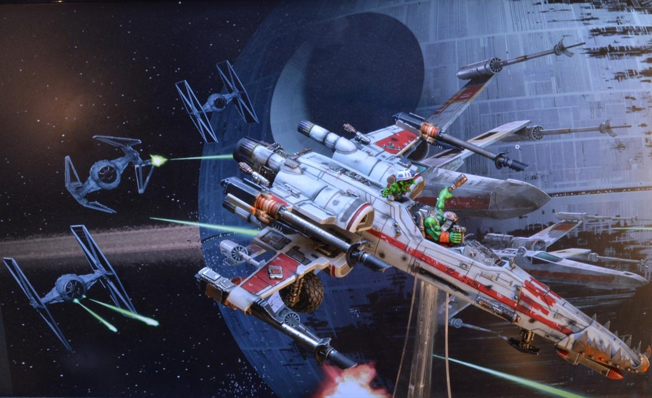 Looted, Ork X-wing, Orks, Star Wars, Wing, X-Wing, Xwing