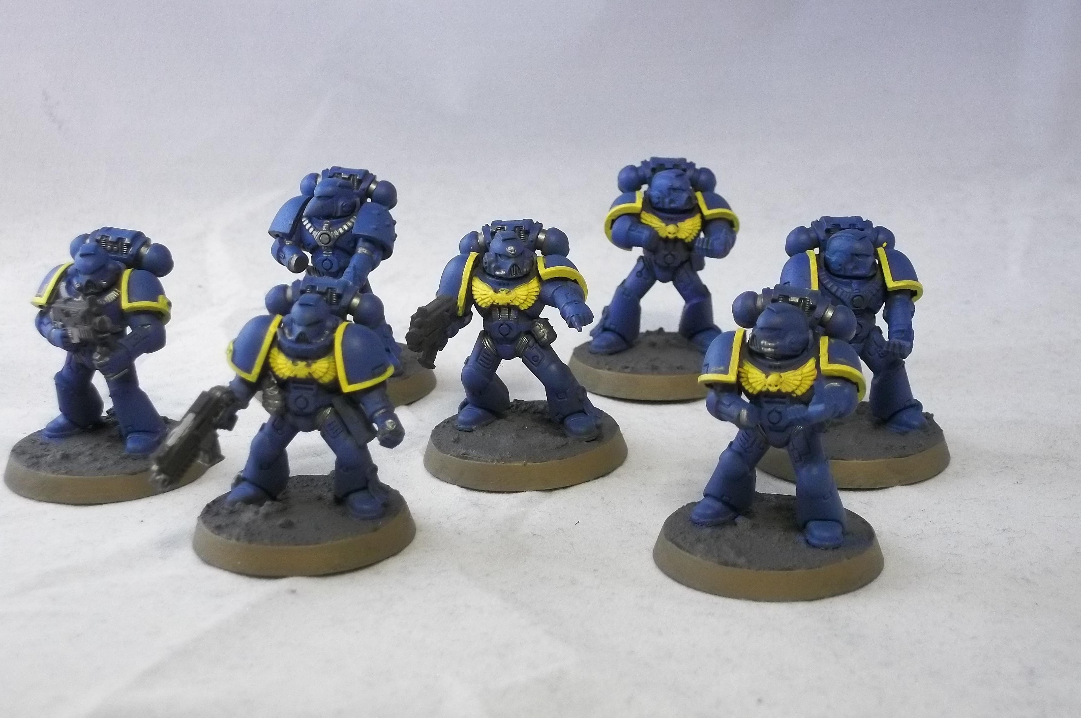 2nd Edition, Retro, Tactical Squad, Ultramarines, Work In Progress