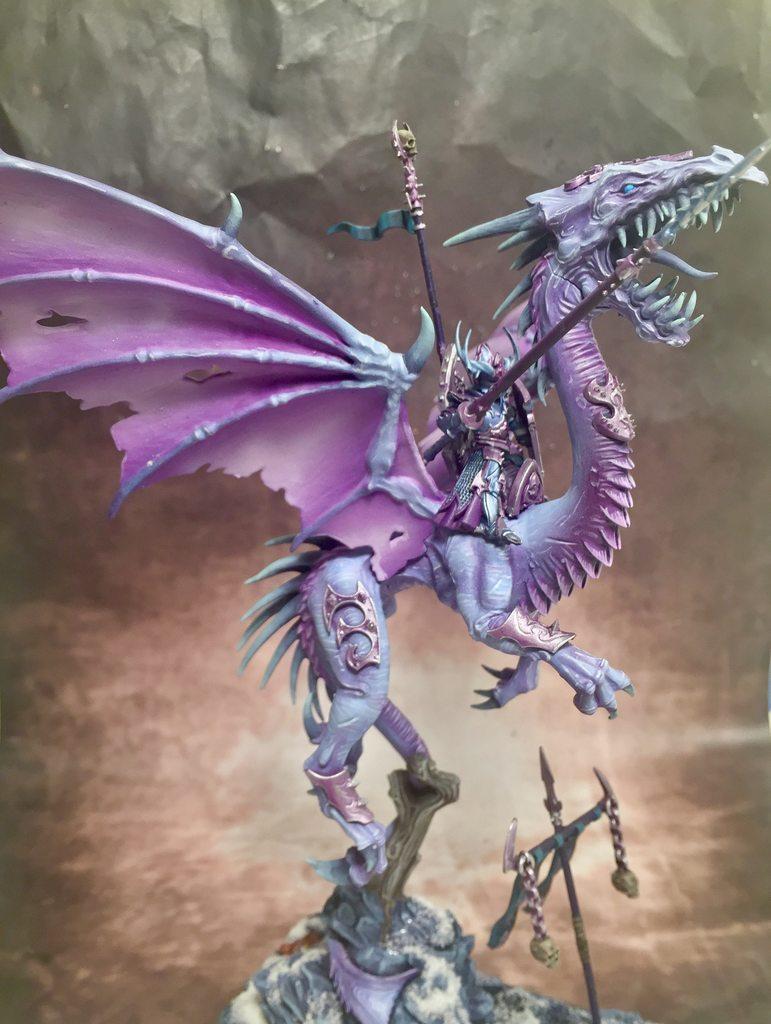 Age Of Sigmar, Dark Elves, Darkelves, Noble On Dragon, Warhammer Fantasy, Warhammerfantasy