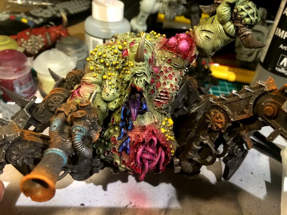 Airbrush, Chaos, Chaos Daemons Nurgle, Daemons, Hulk, Nurgle, Plague, Plague Hulk, Warhammer 40,000