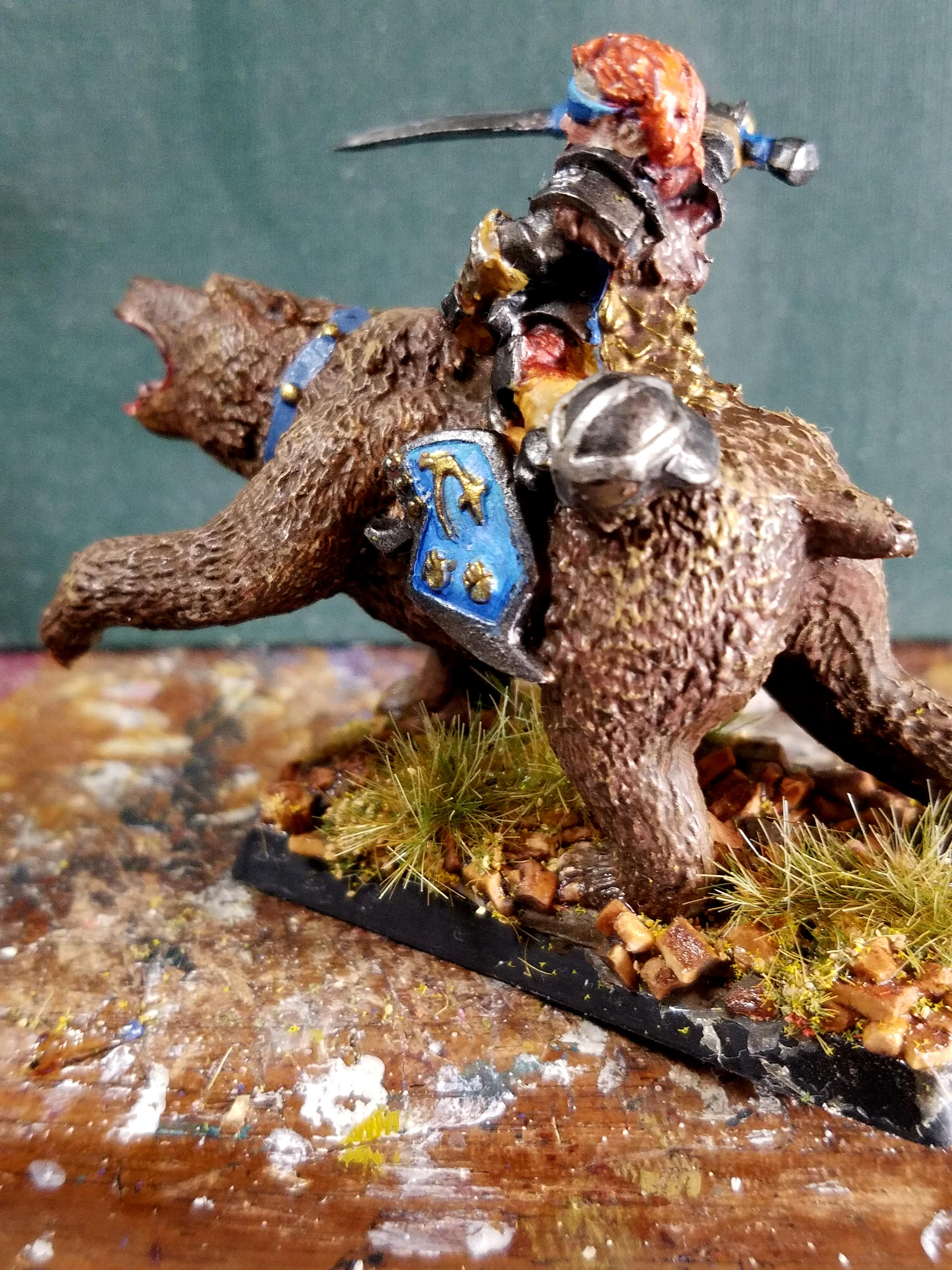 Bear, Bear Cavalry, Dwarves, Half Assed Paint Jobs, I Swear The Eyes Are Painted Honest, Reaper Minis