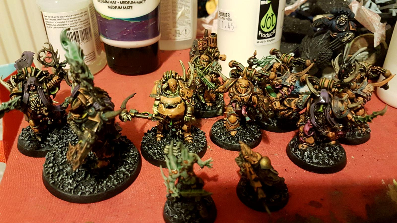Chaos Space Marines, Conversion, Cultist, Death Guard, Foetid Bloat Drone, Nurgle, Plague Marines, Poxwalker