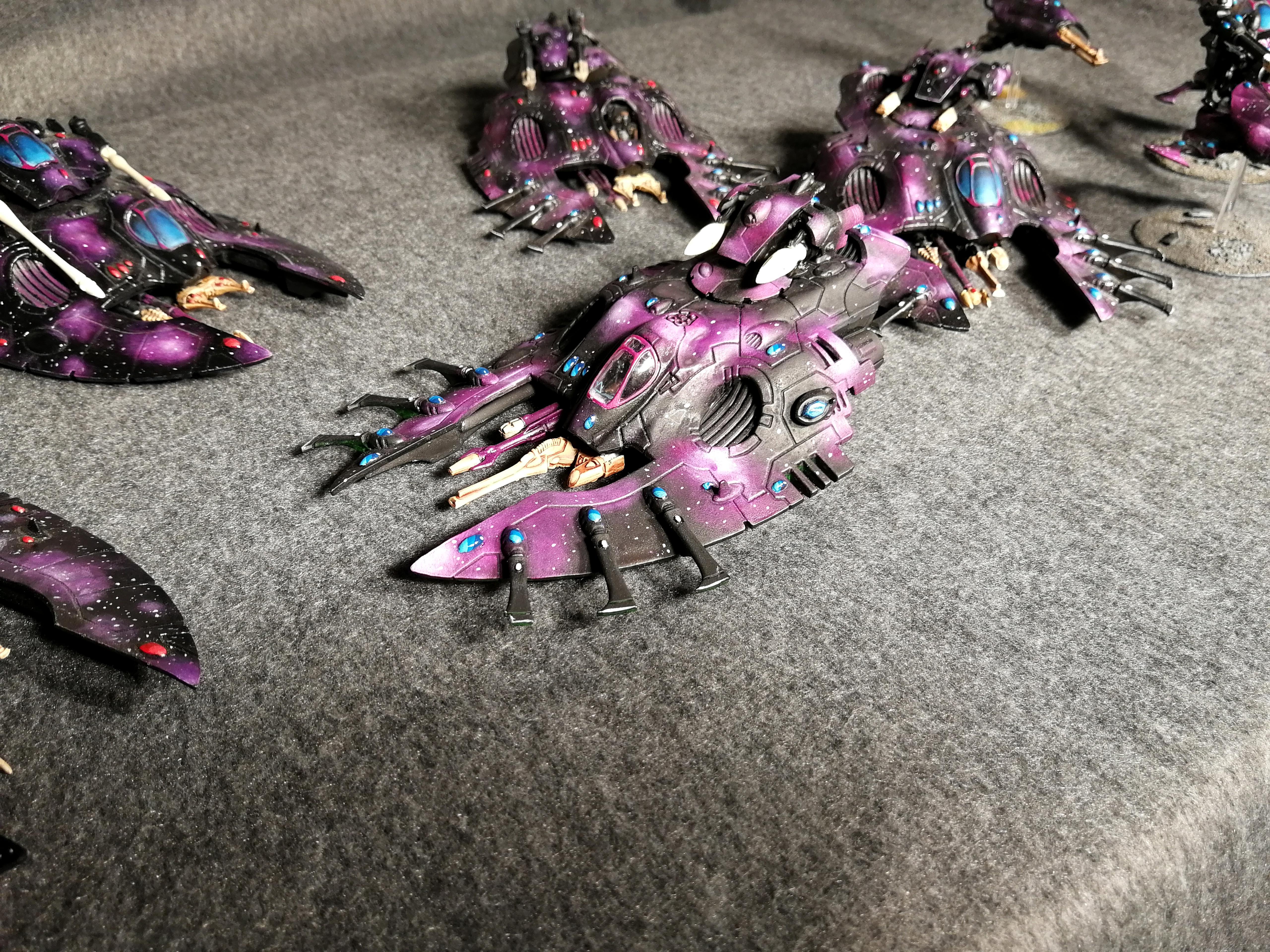 Eldar, Falcon, Fire Prism, Pattern, Skimmer, Space, Star, Tank, Ulthwe, Vehicle, Warhammer 40,000, Wave Serpent