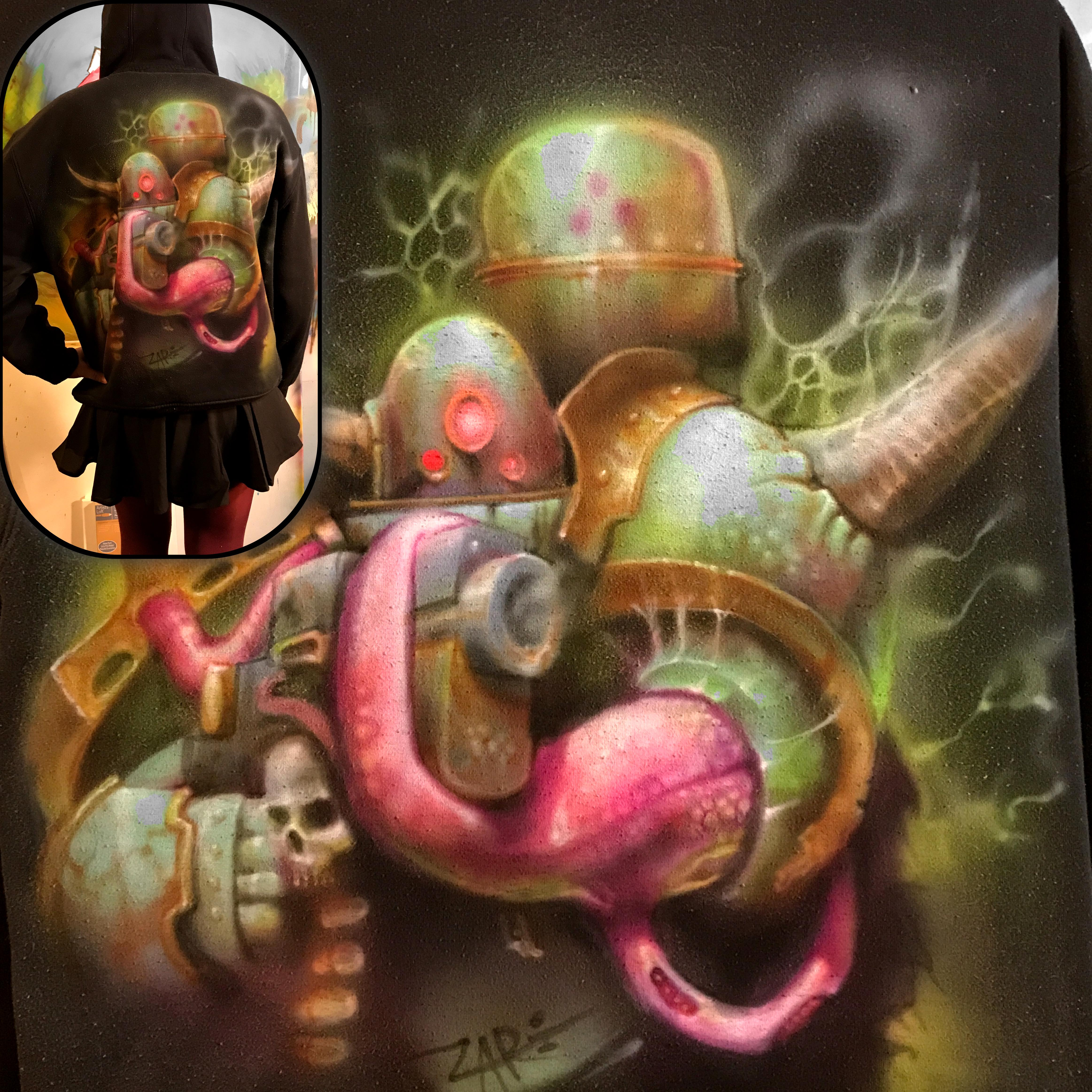 Airbrushed, Chaos, Codex Art, Death Guard, Plague Marines, Shirt, Toxic, Warhammer 40,000