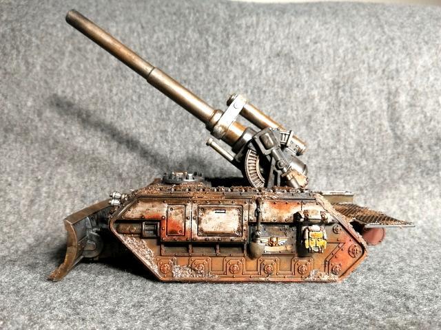 Basilisk, Death Korps of Krieg, Mud, Rust, Tank, Warhammer 40,000
