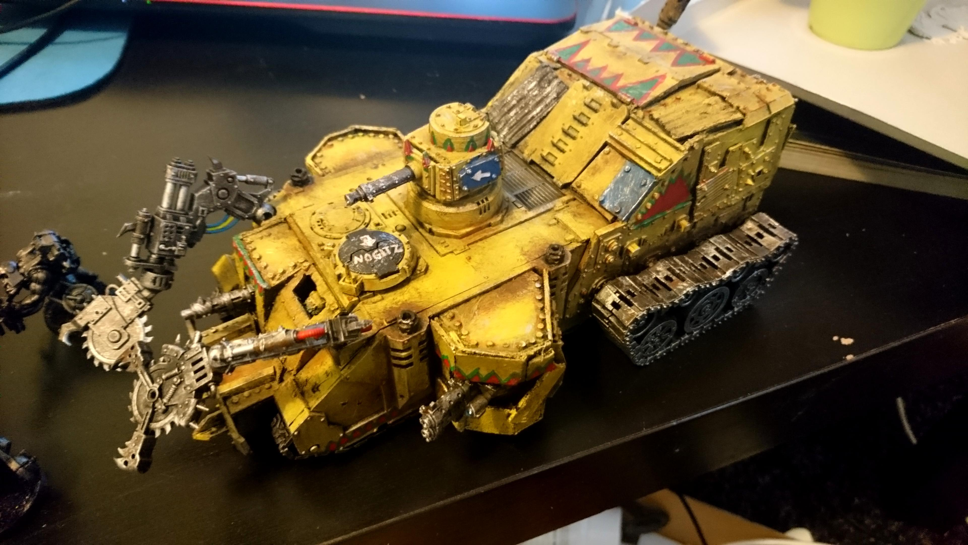 Battlewagon, Conversion, Looted, Orks, Rhino, Warhammer 40,000