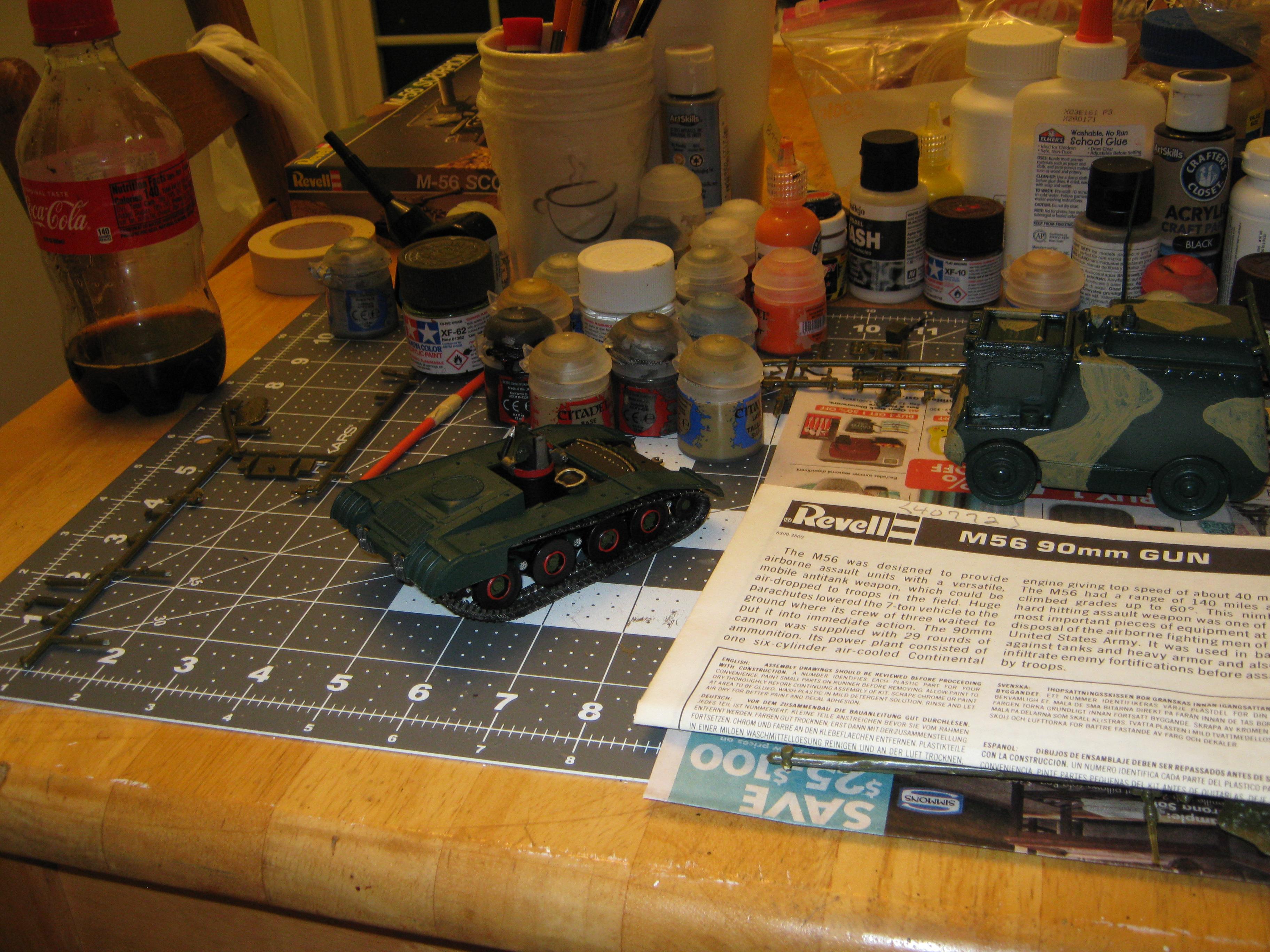 Airborne Vehicle, Anti-tank Gun, Cold War, Conversion, Counts As, Fire Support Vehicle, Fsv, Imperial, Light Tank, M56, Scorpion, Self Propelled Gun, Spg, Tank Destroyer, Vietnam