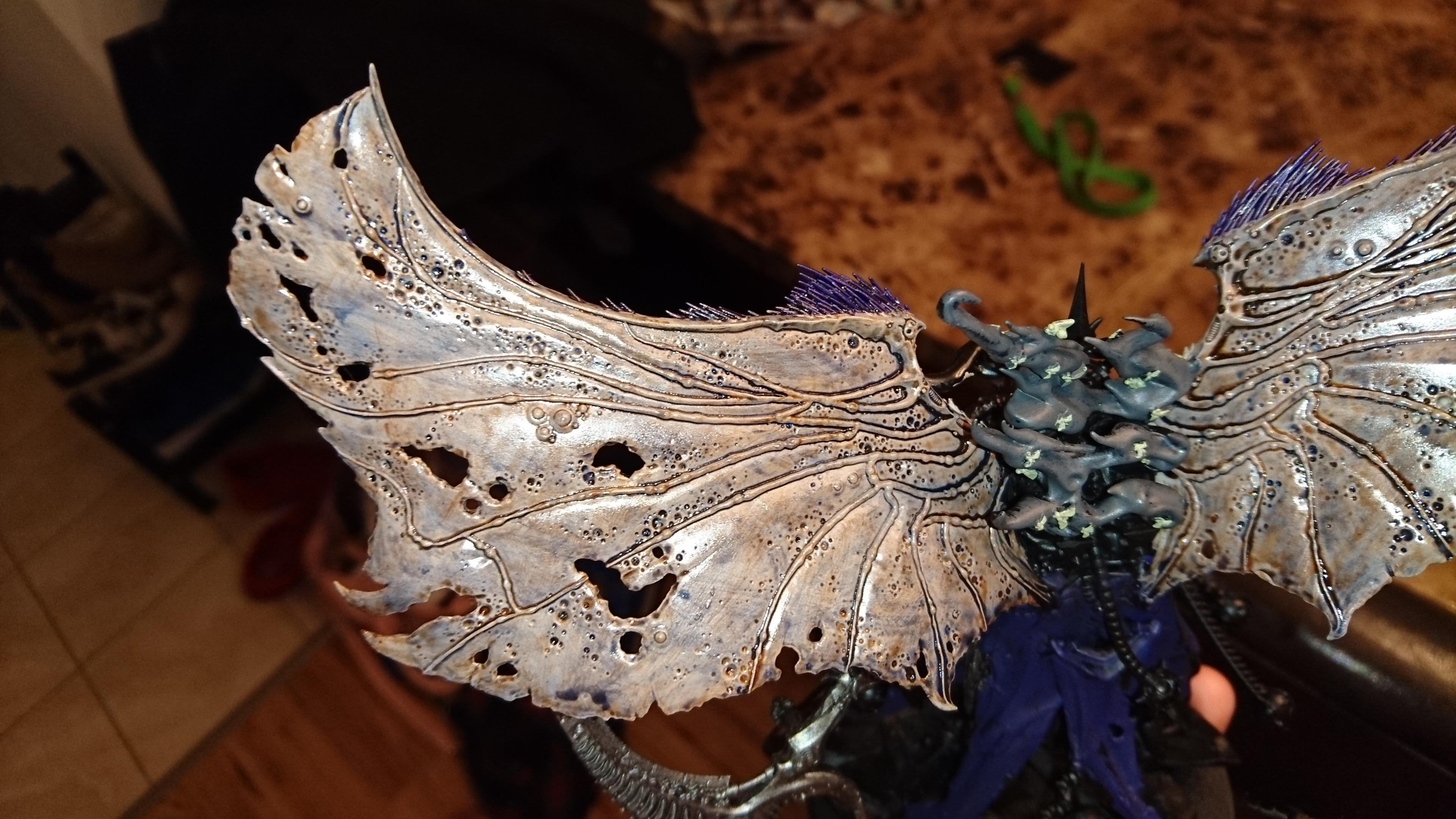 Mortarion, Motarion, Winged, Work In Progress