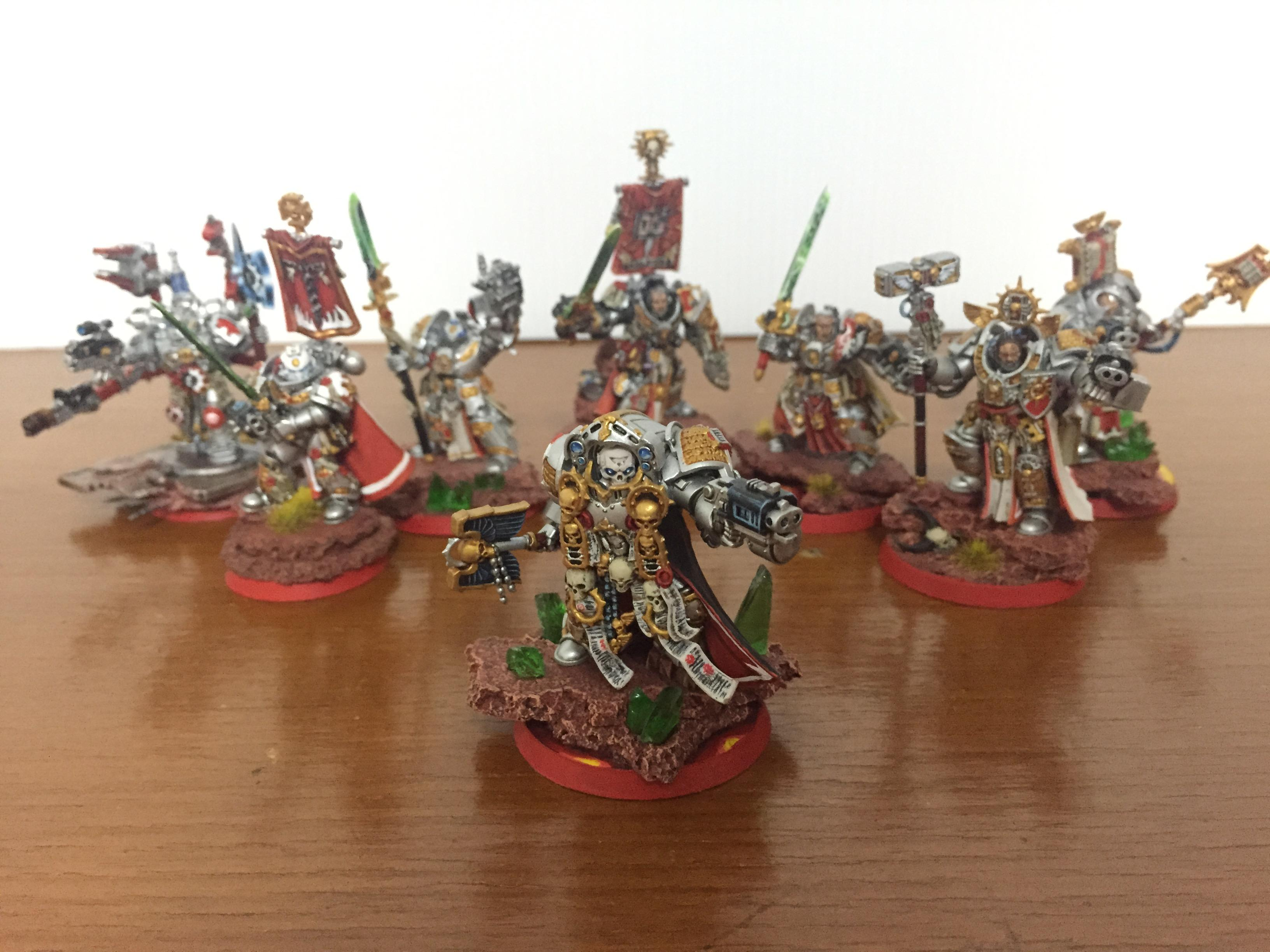 Captain, Chaplain, Crowe, Draigo, Grey Knights, Librarian, Stern, Techmarine, Voldus