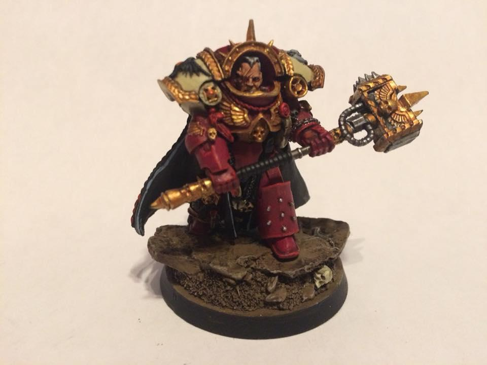 Blood Ravens, Chapter Master, Gabriel Angelos, Skull, Space Marines, Terminator Armor, Thunderhammer, Wasteland Base