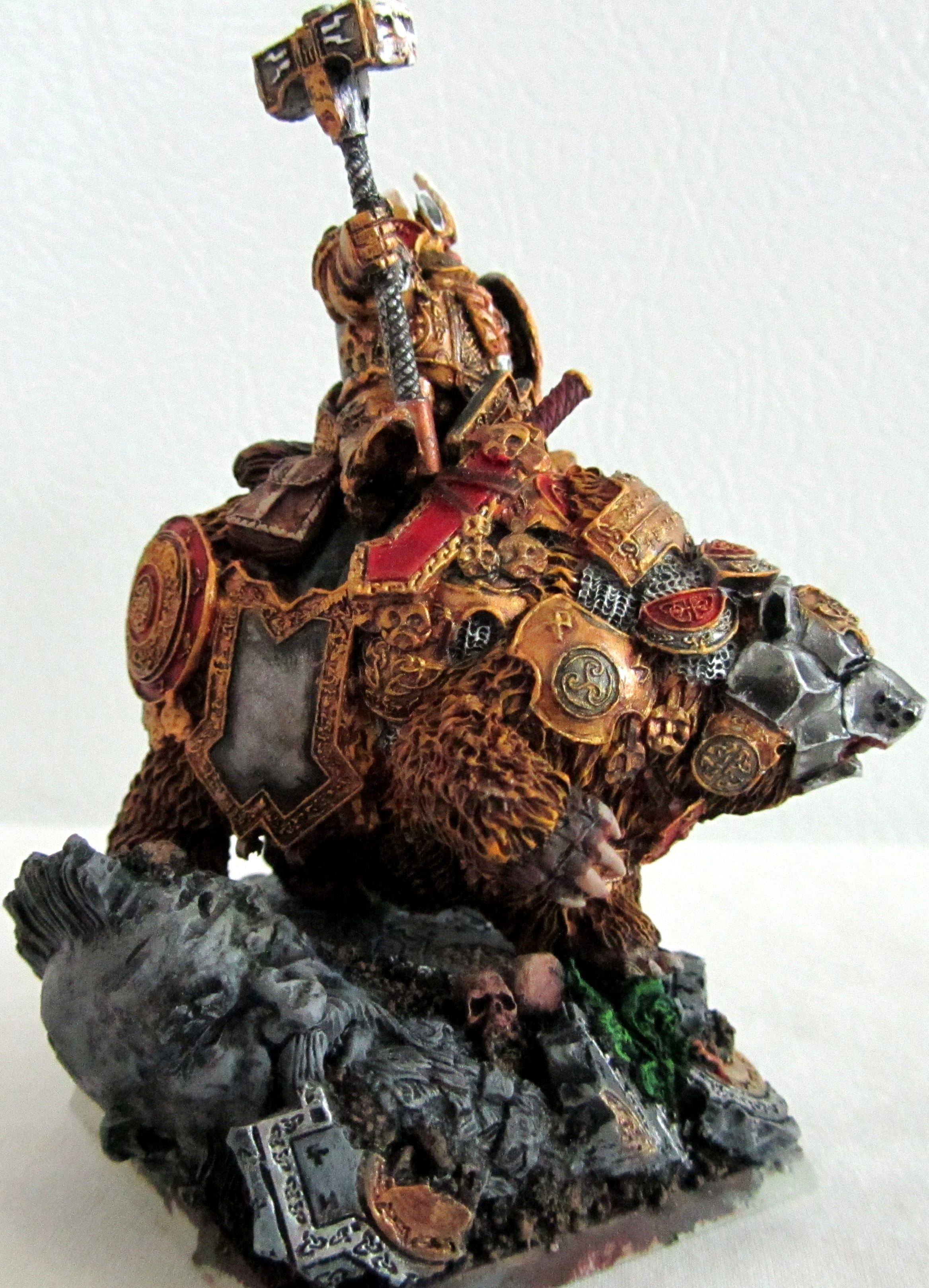 Bear, Dwarf Cavalry, Dwarf King, Lord, War Bear