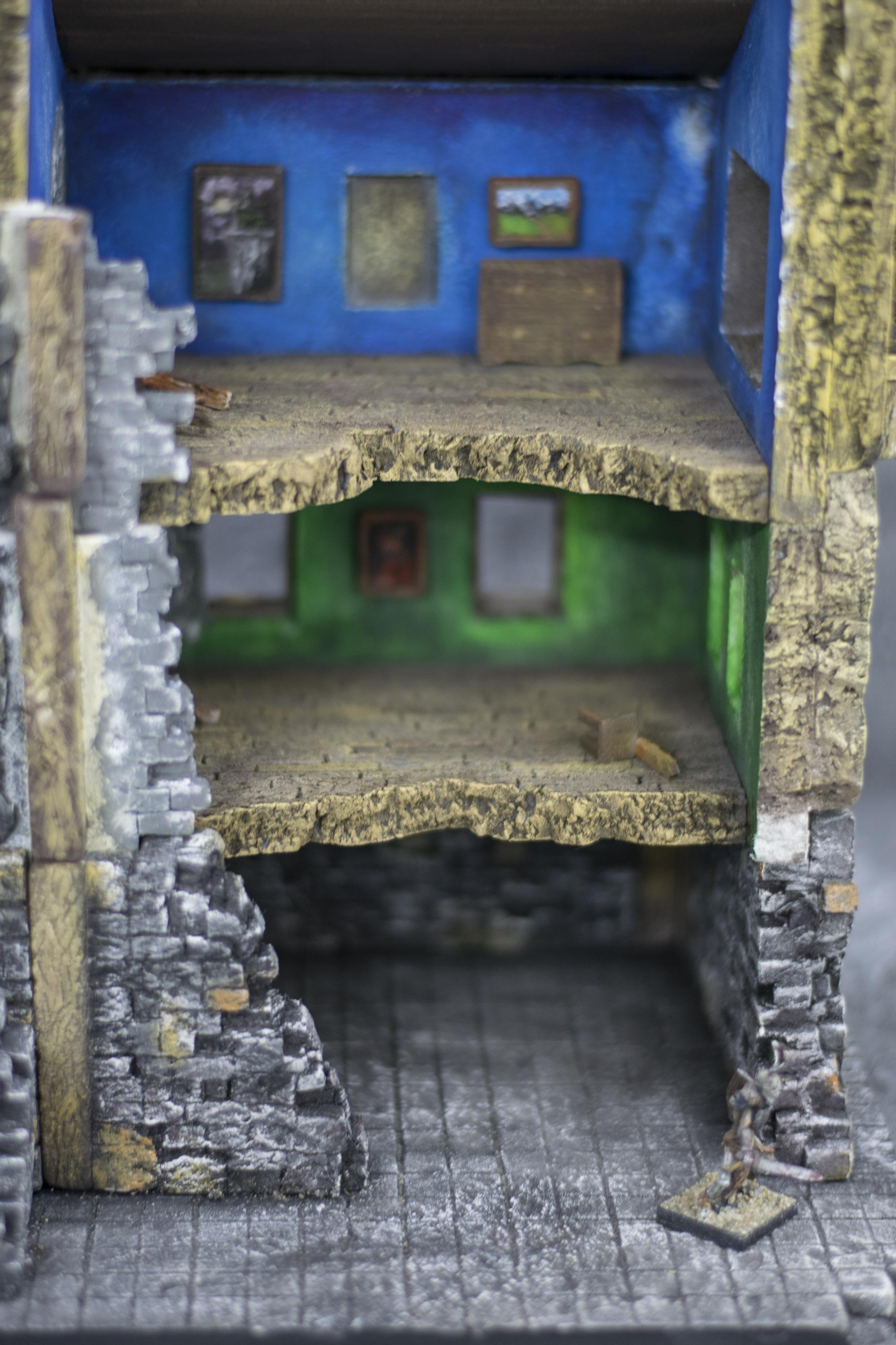 Architecture, Chaos, Diorama, Game, House, Mansion, Modular, Mordheim, Painted, Paintings, Ruined, Ruins, Set, Stonework, Terrain, War, Wargame, Warhammer Fantasy, Witch Hunters