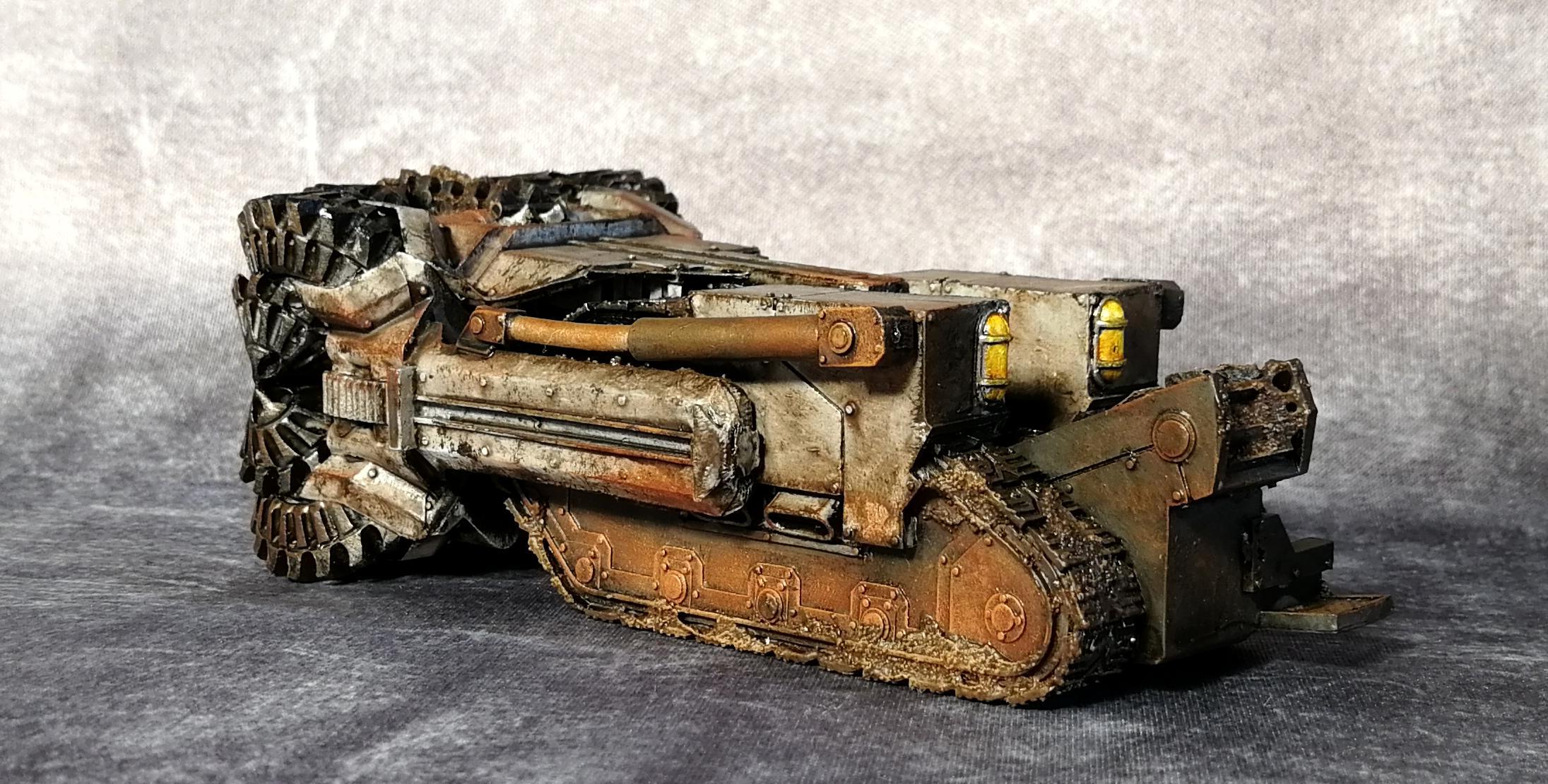 Death Korps of Krieg, Hades Breaching Drill, Rust, Warhammer 40,000, Weathered