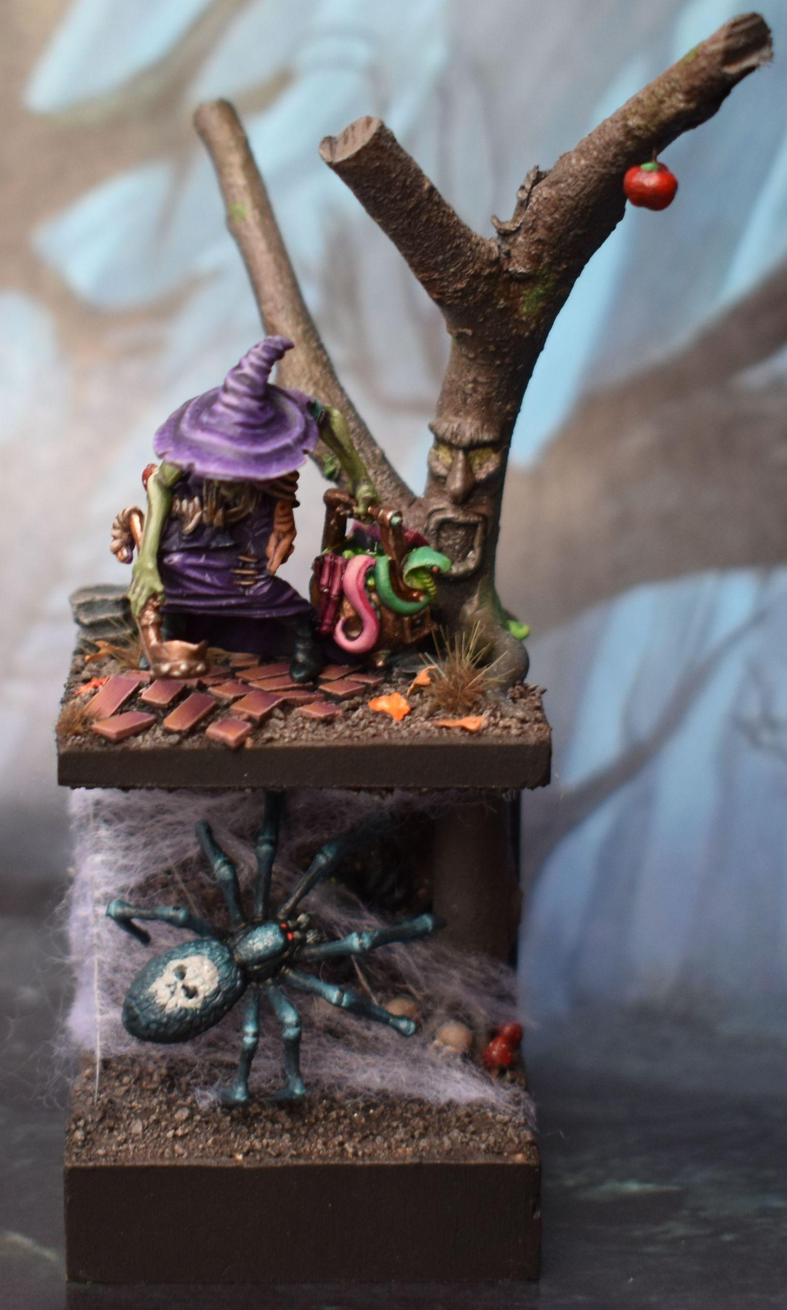 Diorama, Greenstuff, Purple, Sister, Spider, Twilight, Witch