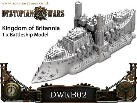 Battleship, British, Dystopian Wars, Out Of Production, Spartan