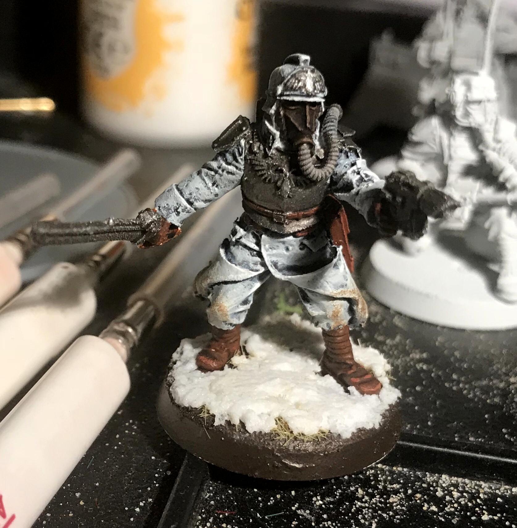 Death Korps of Krieg, Forge World, Officer, Snow, White