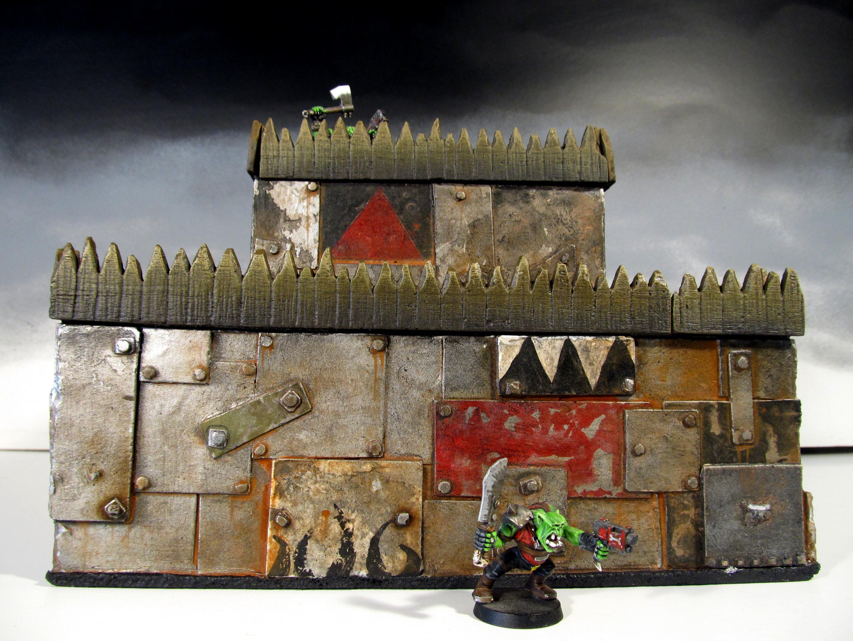Battle, Buildings, Ironclad, Orks, Terrain, Wargame, Warhammer 40,000, Warhammer Fantasy