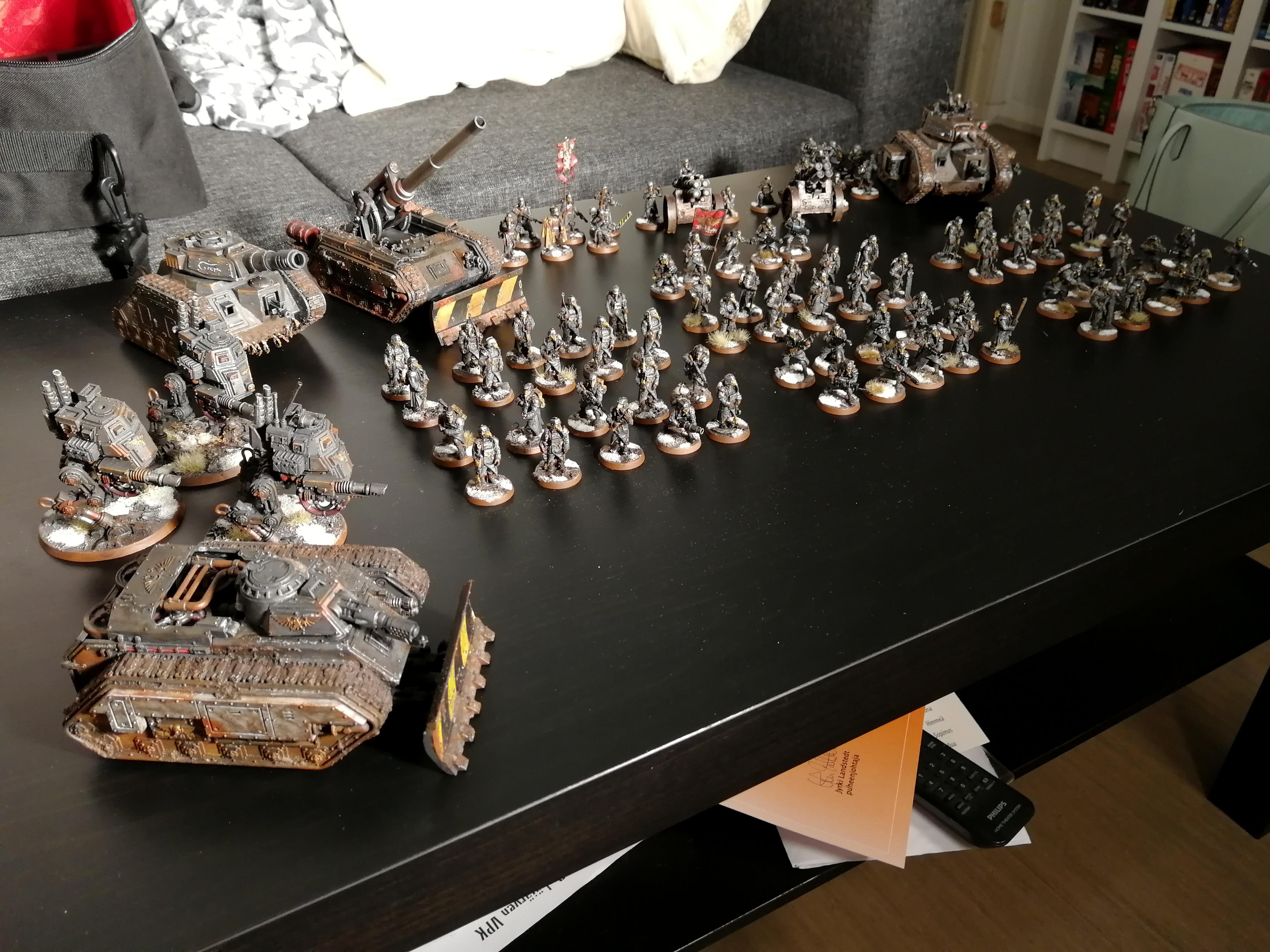 Army, Astra Militarum, Basilisk, Death Korps of Krieg, Hellhound, Imperial Guard, Infantry, Leman Russ, Sentinel, Tank, Warhammer 40,000