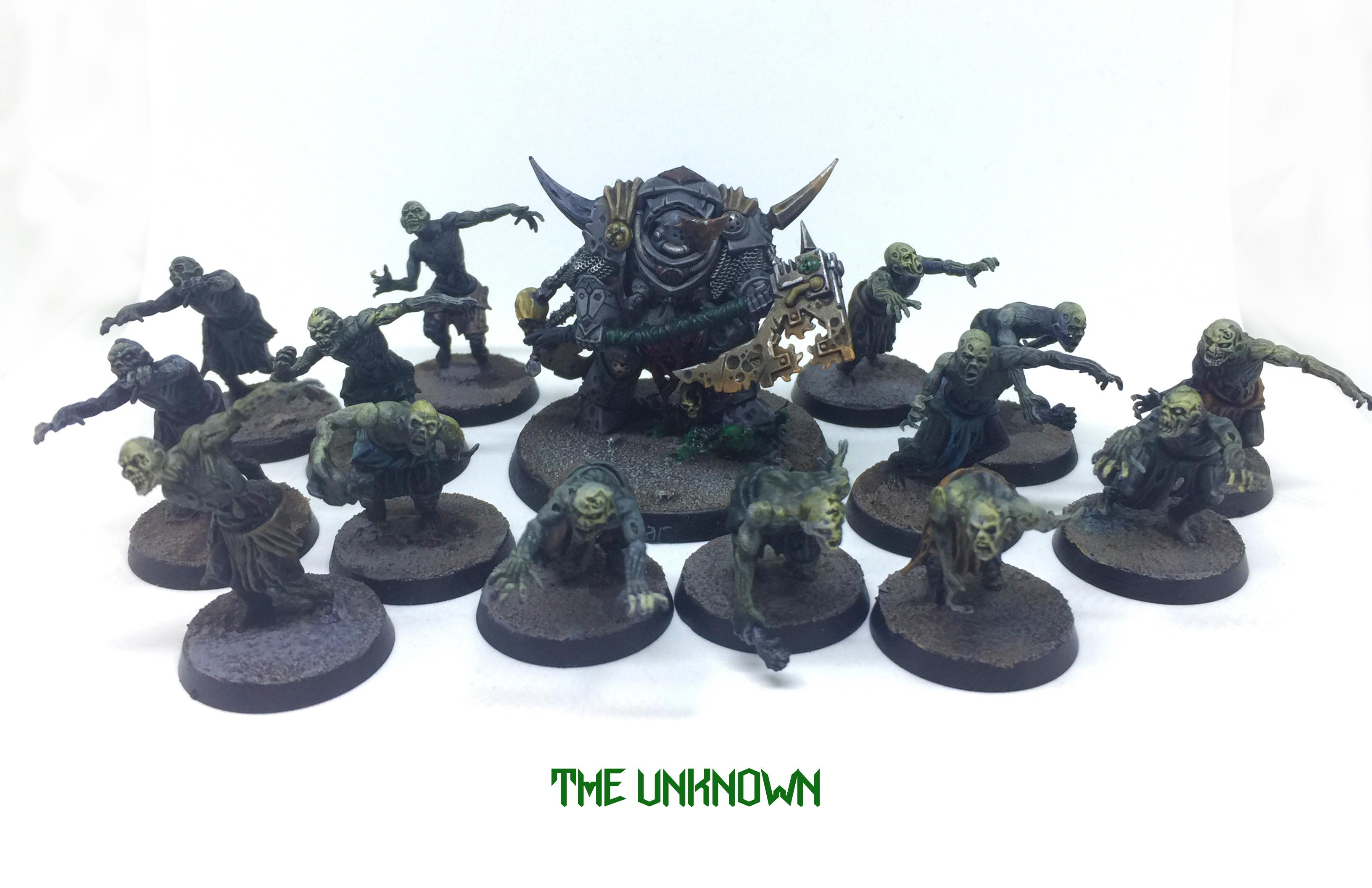 Chaos Lord, Chaos Space Marines, Dark Imperium, Death Guard, Lord Of Contagion, Nurgle, Plague Zombies, Poxwalkers, Terminator Armor, Warhammer 40,000